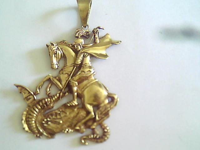 Pingente São Jorge Banho de Ouro 18 K no Elo7   Garimpo Joias RJ (2BD5E5) f5bc31497b