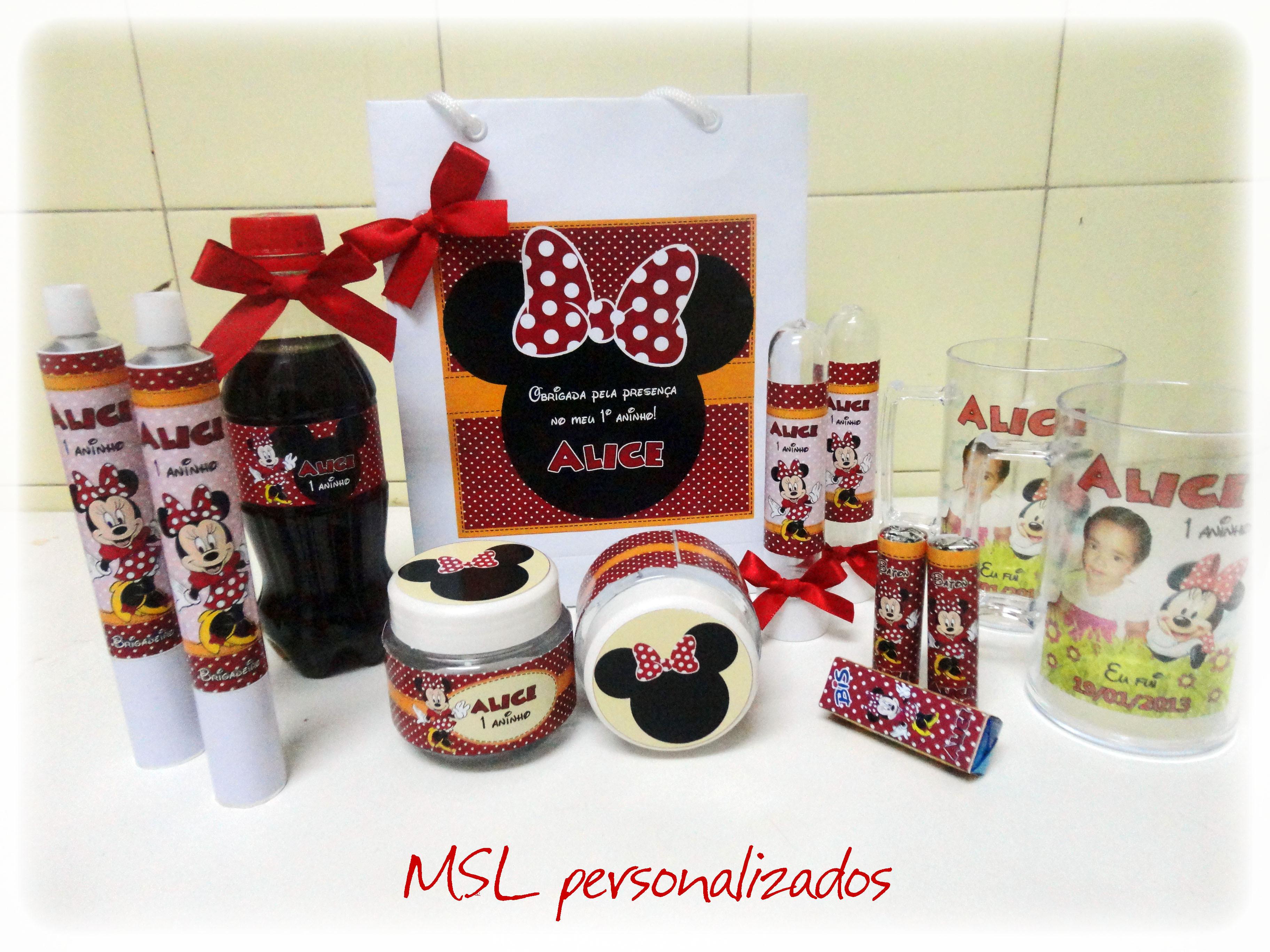 Bolsa De Festa Da Minie : Kit festa personalizada minnie msl personalizados elo