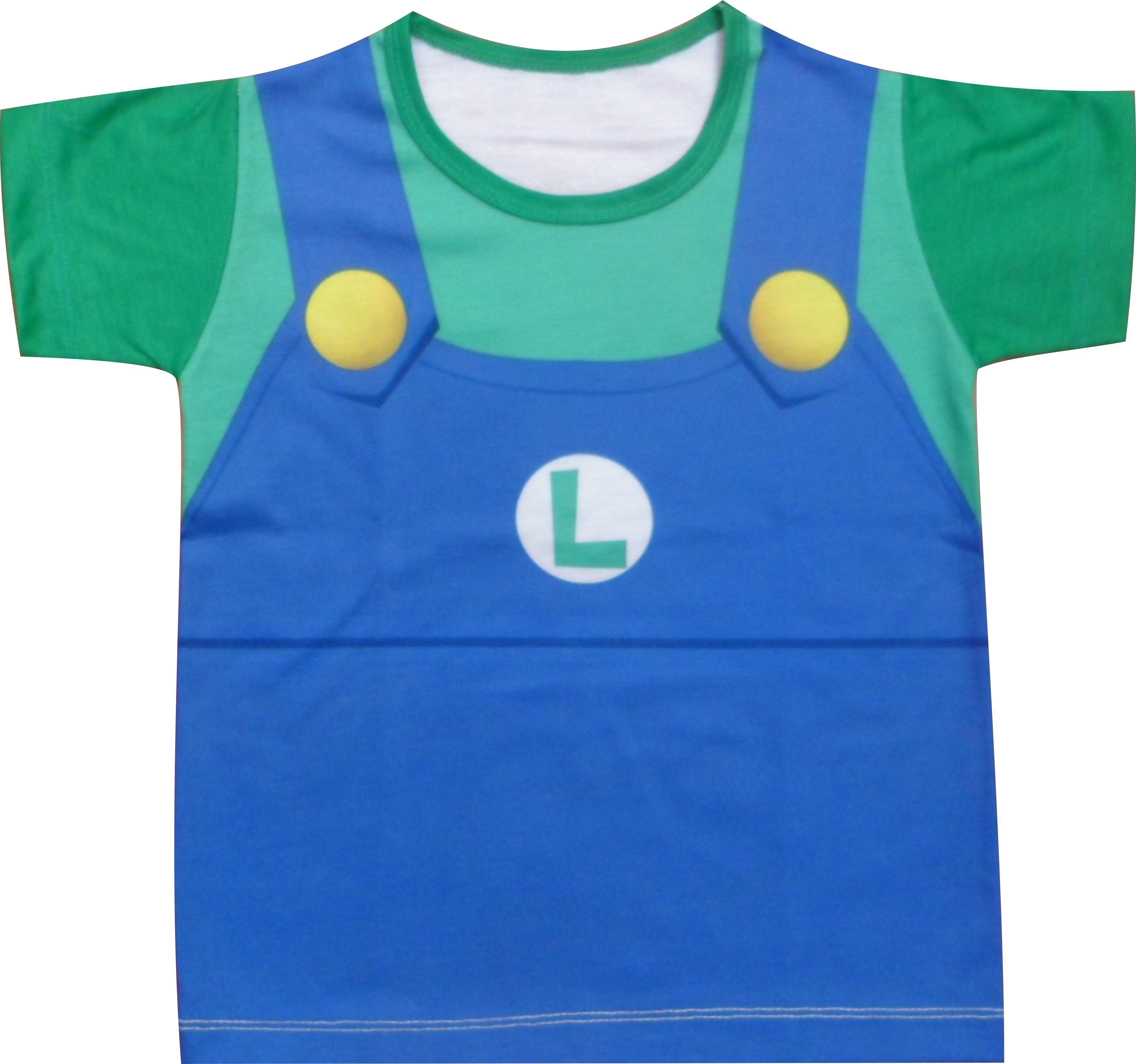 7ebefd119ad16 Camiseta infantil Luigi no Elo7