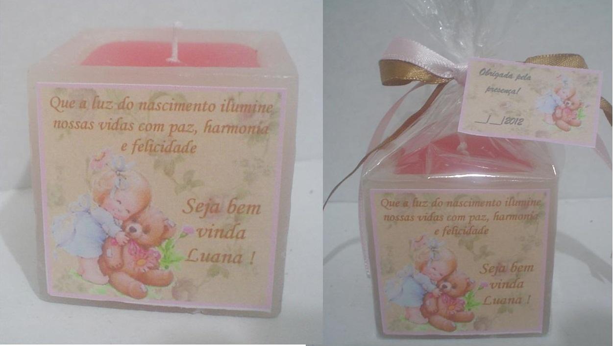 kit 10 Lembrancinhas Maternidade -Menina ursinha no Elo7 | Velas Tempo da  Arte (2BE866)