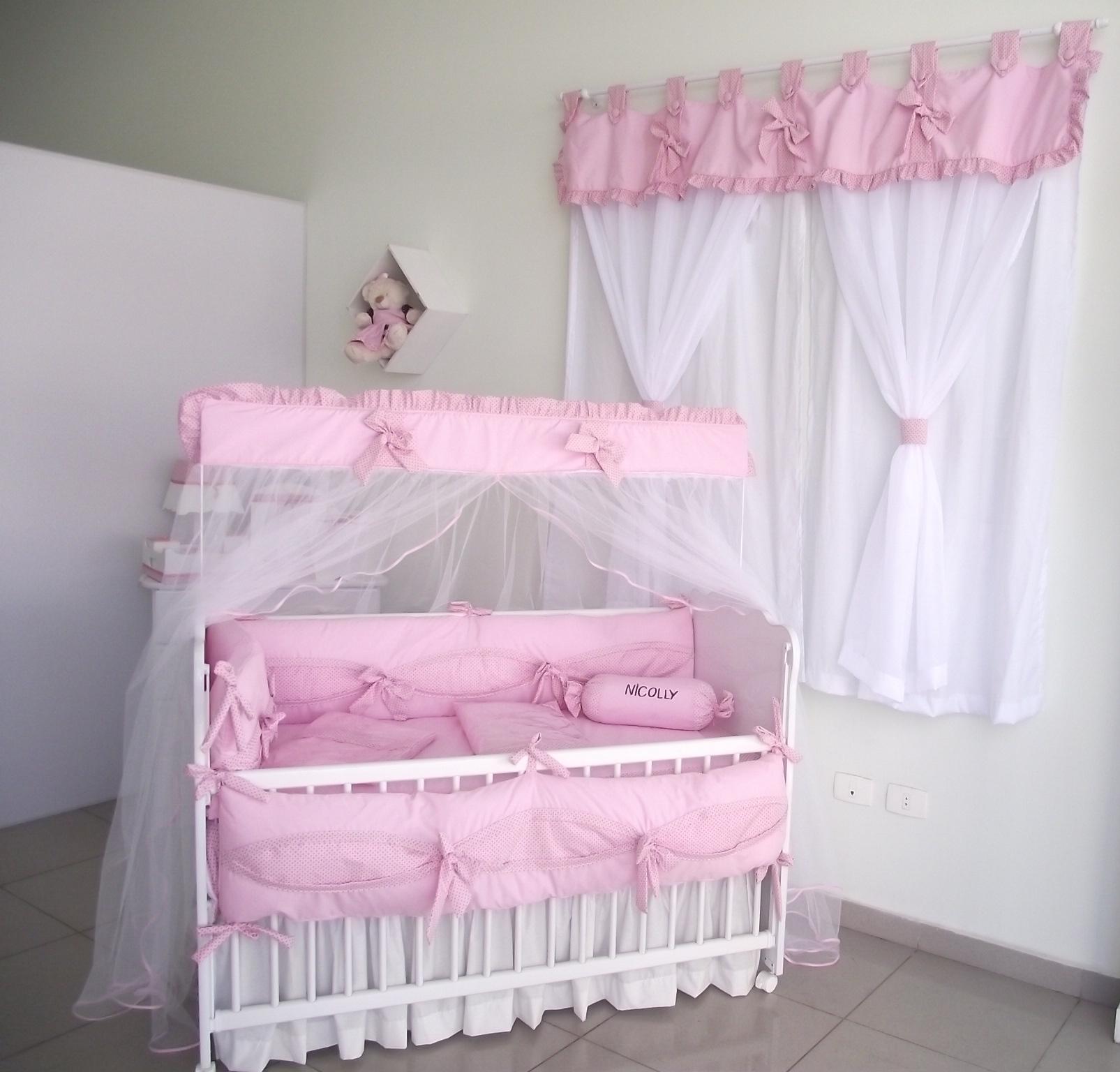 Cortina para quarto de beb la o de fita sonho de beb Cortina para bebe