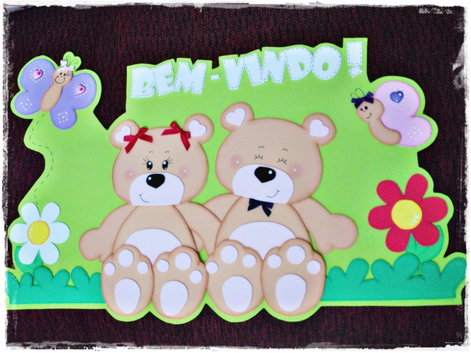 Cartaz Sala De Aula BemVindo  Eu Faço Arte  Nice Brunherotti  -> Decoracao Para Banheiro De Escola Em Eva