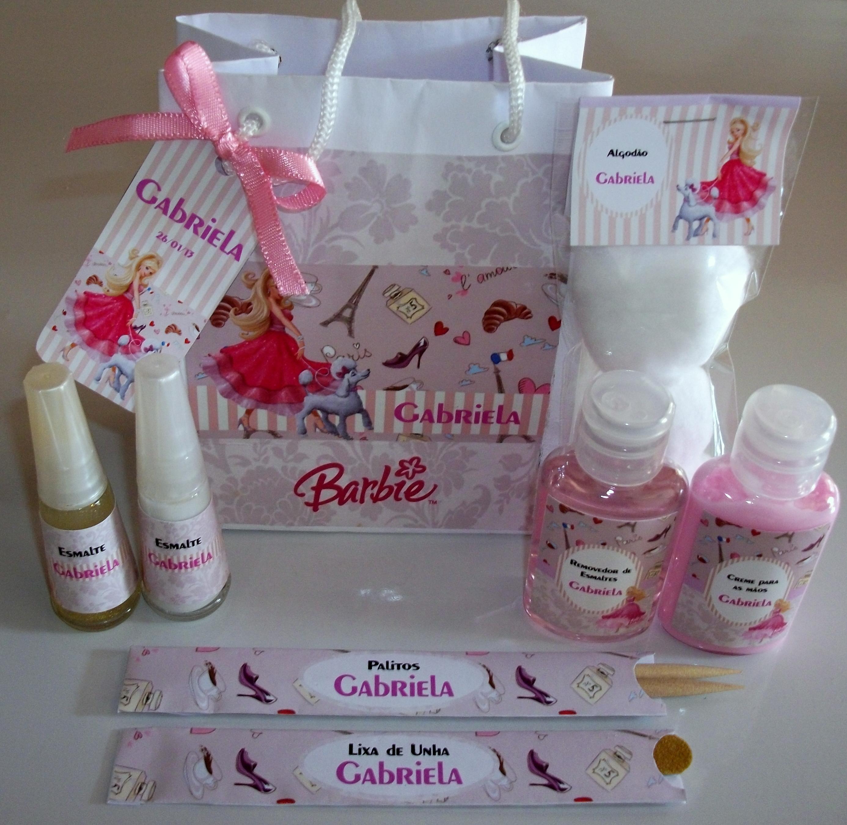 Mini Kit Manicure Lembrancinha Papillon Day Spa
