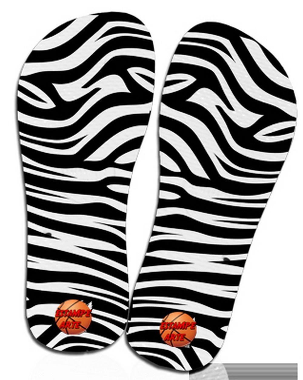 Chinelos Com Estampa Onca Zebra Calcadao No Elo7 Estampe Arte
