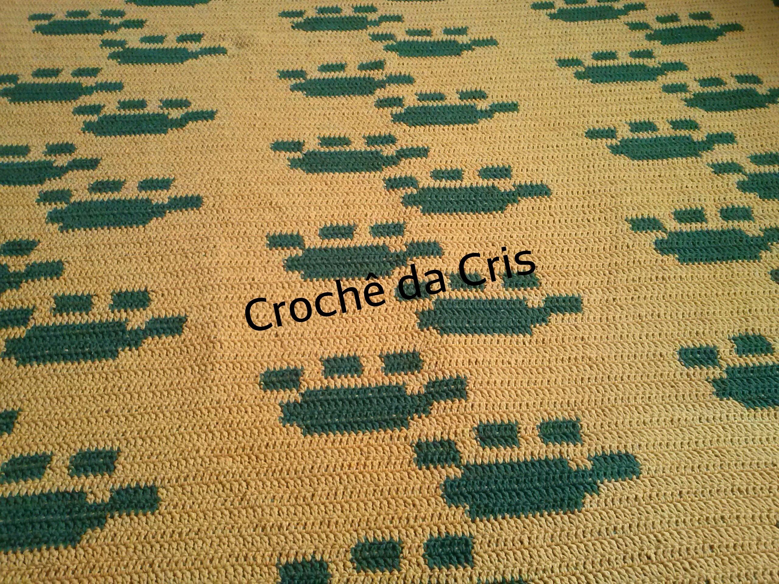 tapete pegadas de cachorro em croche tapete pegadas de cachorro em  #9C762F 2560 1920