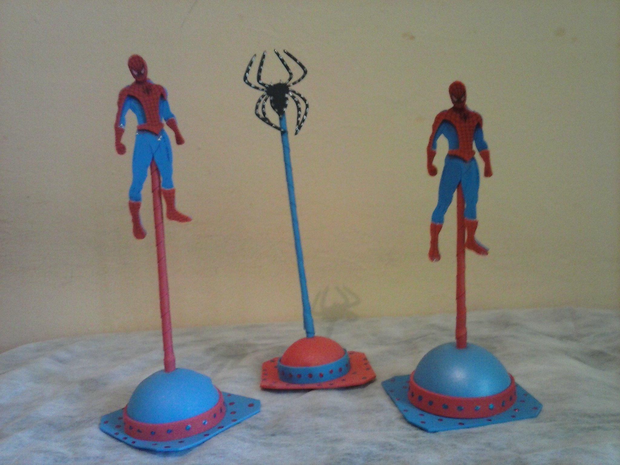 Enfeite de Mesa Homem Aranha CRIS CAMPOS ARTE EM EVA Elo7 -> Enfeites De Mesa Do Homem Aranha