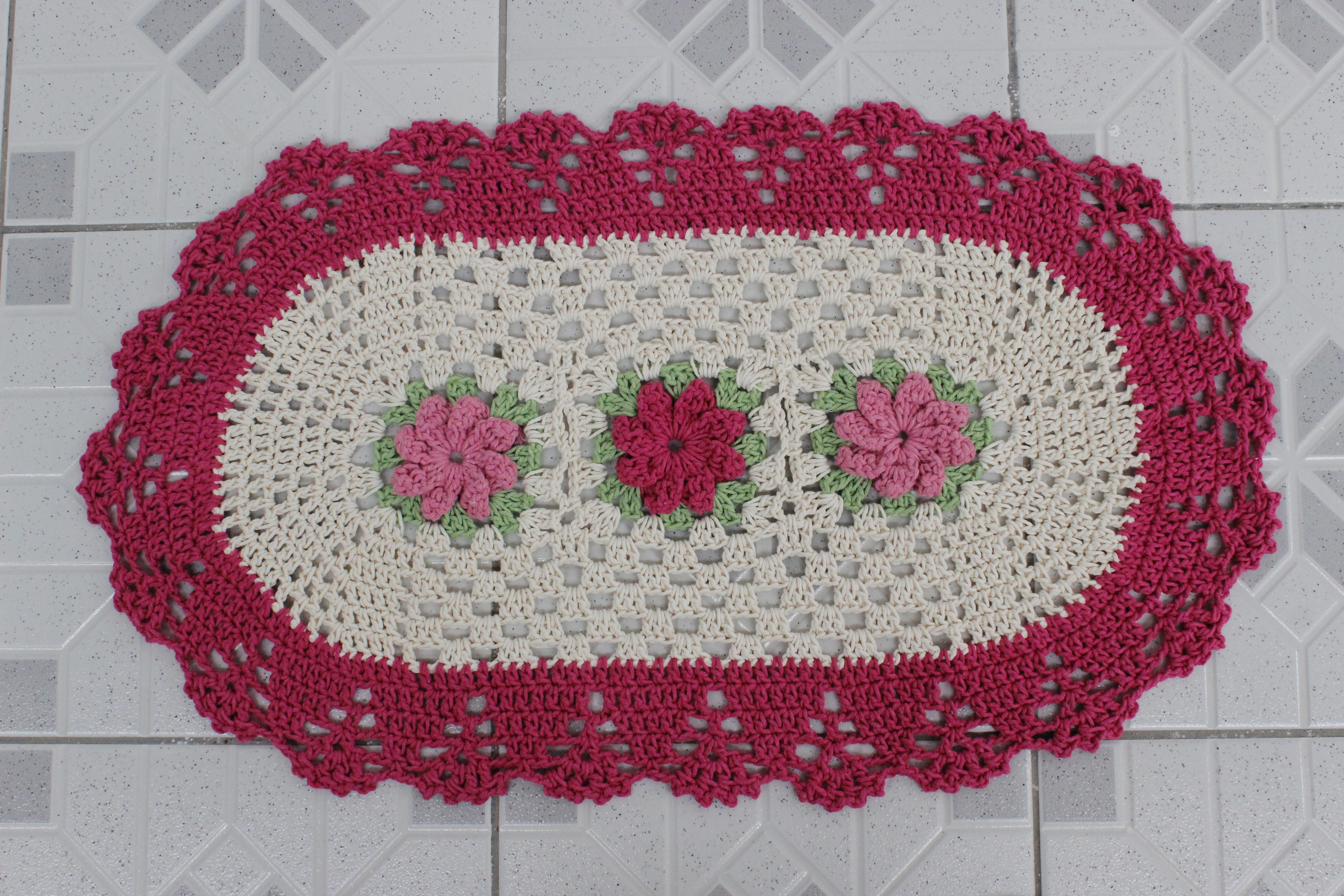 Tapete Oval Feito Em Croch Flores No Elo7 Atelie Pontos E