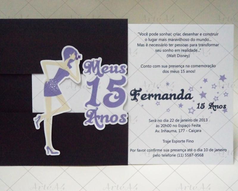 Convite 15 Anos Dolls No Elo7 Arte A4 Conviteria 2fdd8e