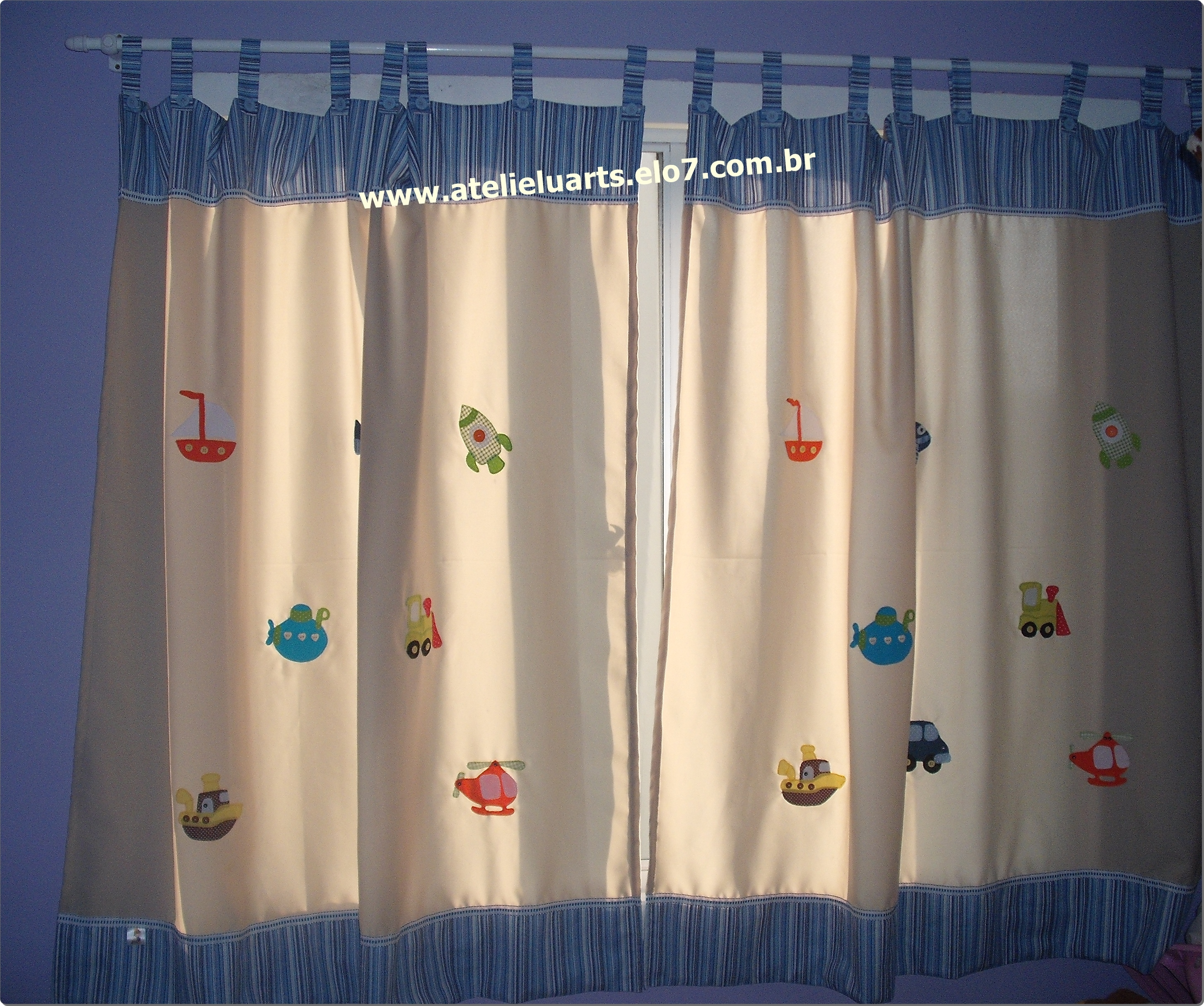 Cortina para quarto infantil ateli luarts elo7 - Modelos de cortinas infantiles ...