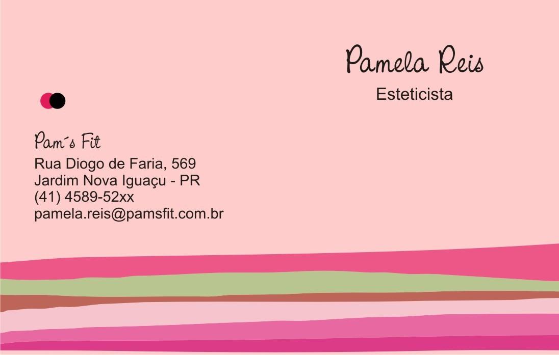 Excepcional Cartão De Visita -500 Unds- Cantos Retos no Elo7   Galeria das  MP38