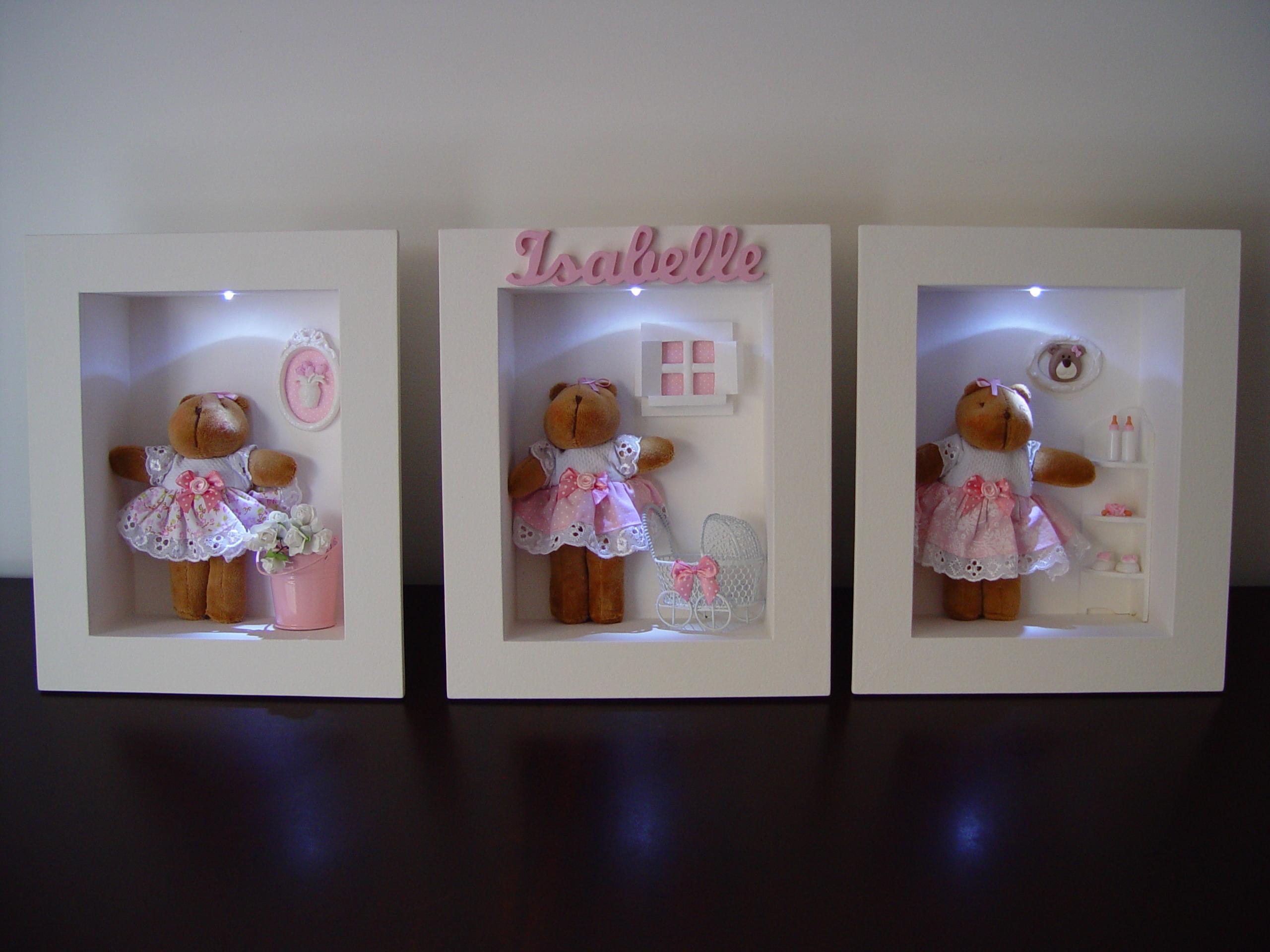 Da 0060 Quadros Decorativos Ursa C Led Pipe E Guca Elo7 ~ Como Fazer Quadros Decorativos Para Quarto De Bebe