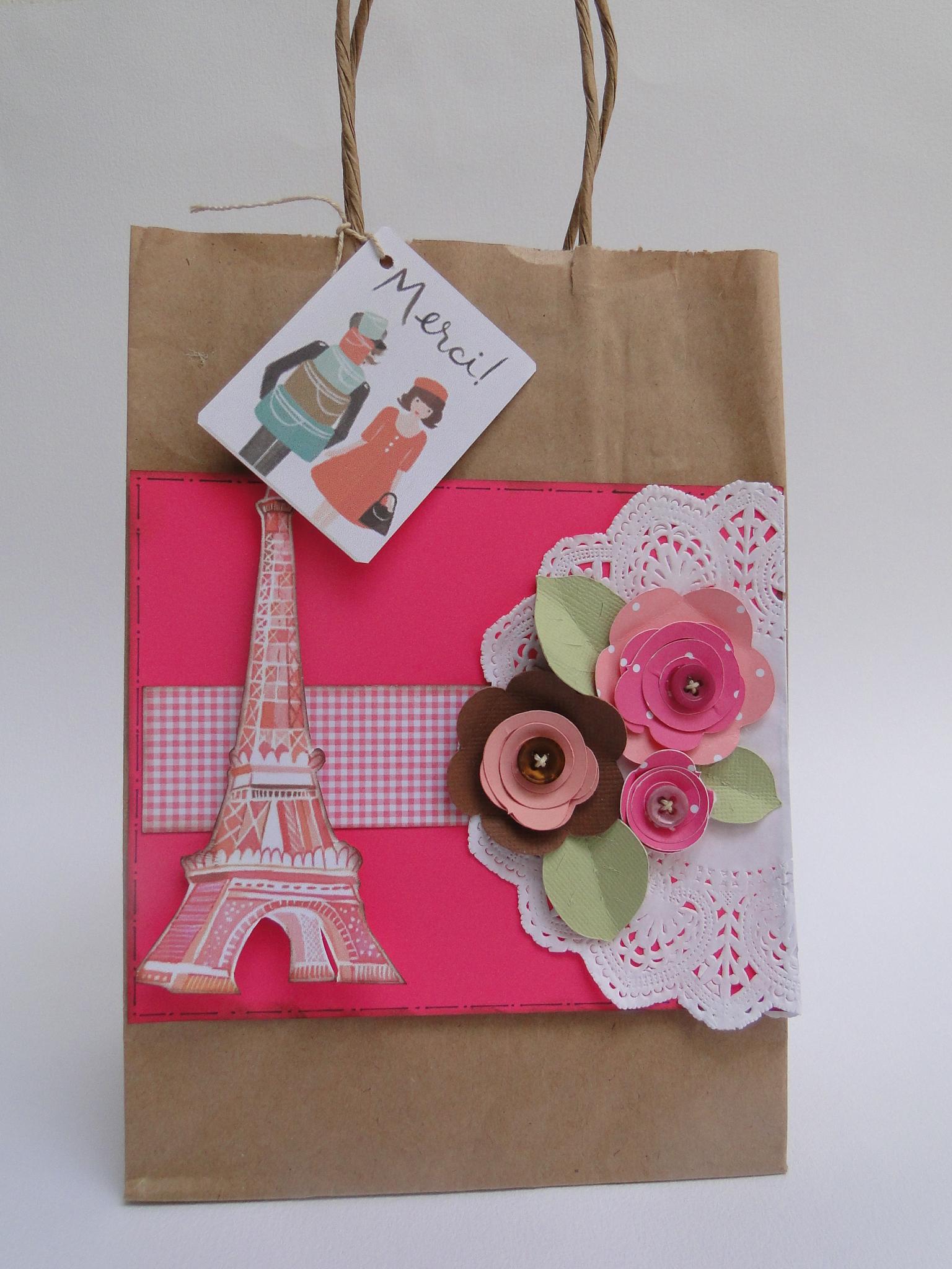 Bolsa De Festa Para O Dia : Sacola de papel decorada alecrim artes elo
