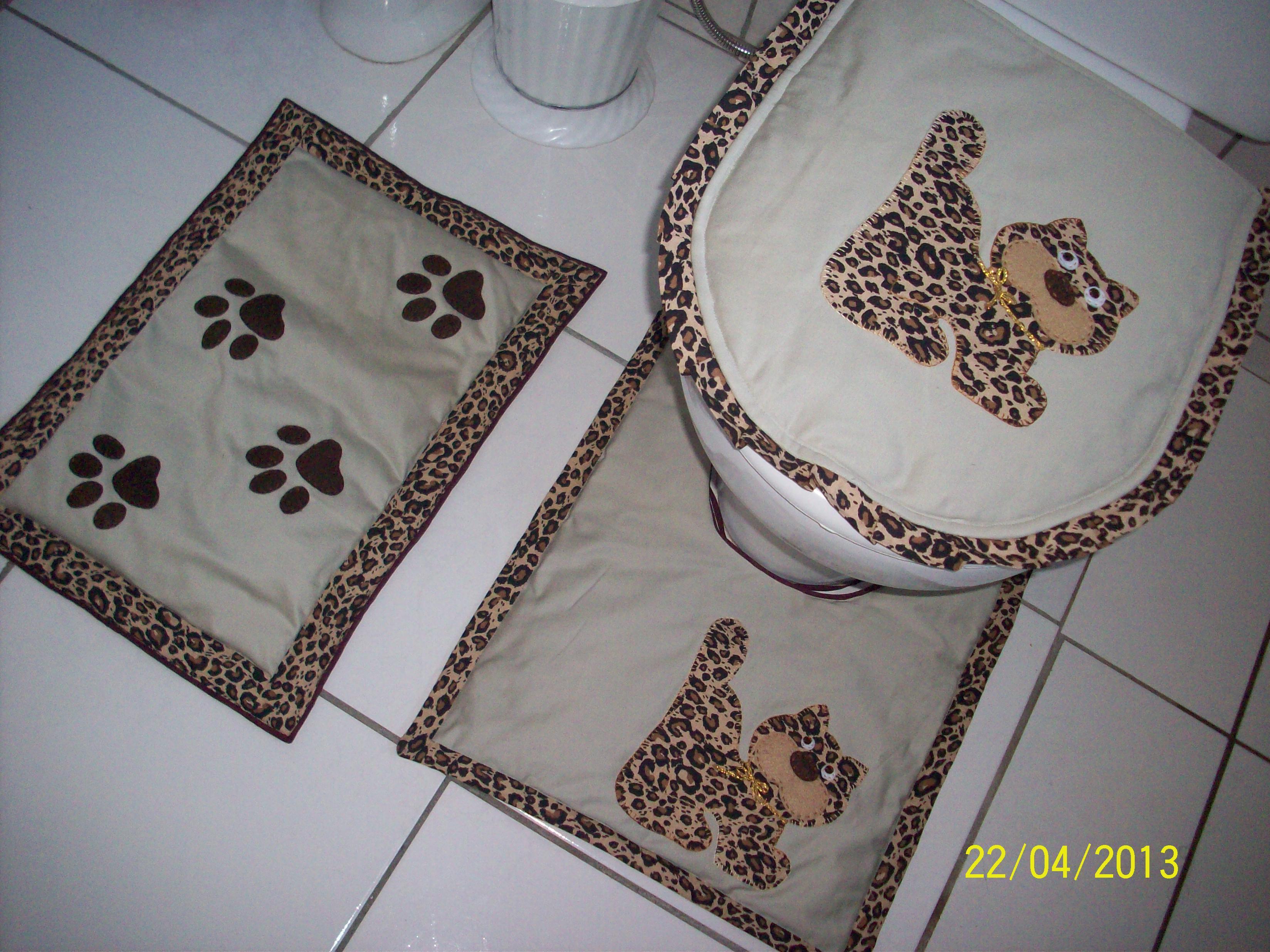 banheiro gato jogo de tapetes para banheiro oncinha banheiro gato  #705F4E 3296 2472
