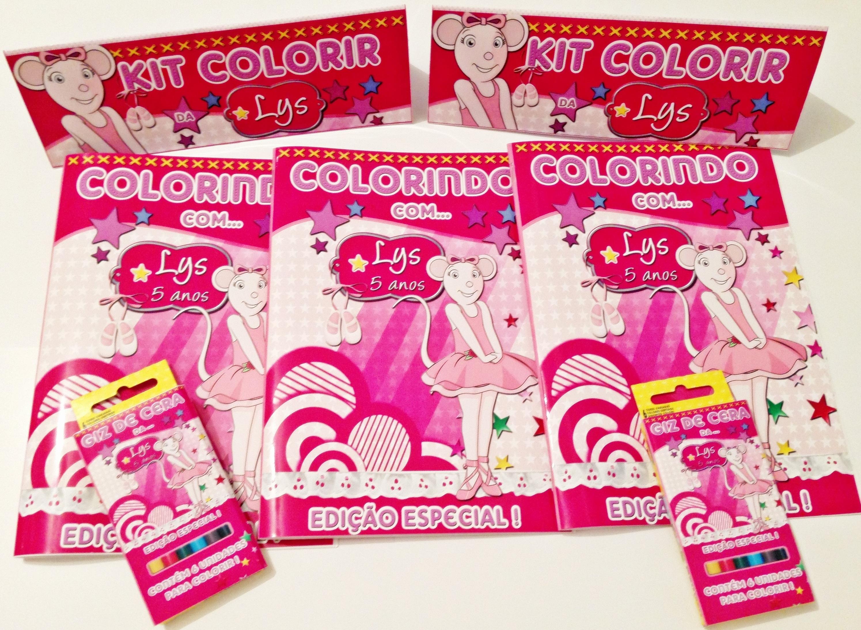 Revista De Colorir Angelina Ballerina No Elo7 Bruna Design 3129cf