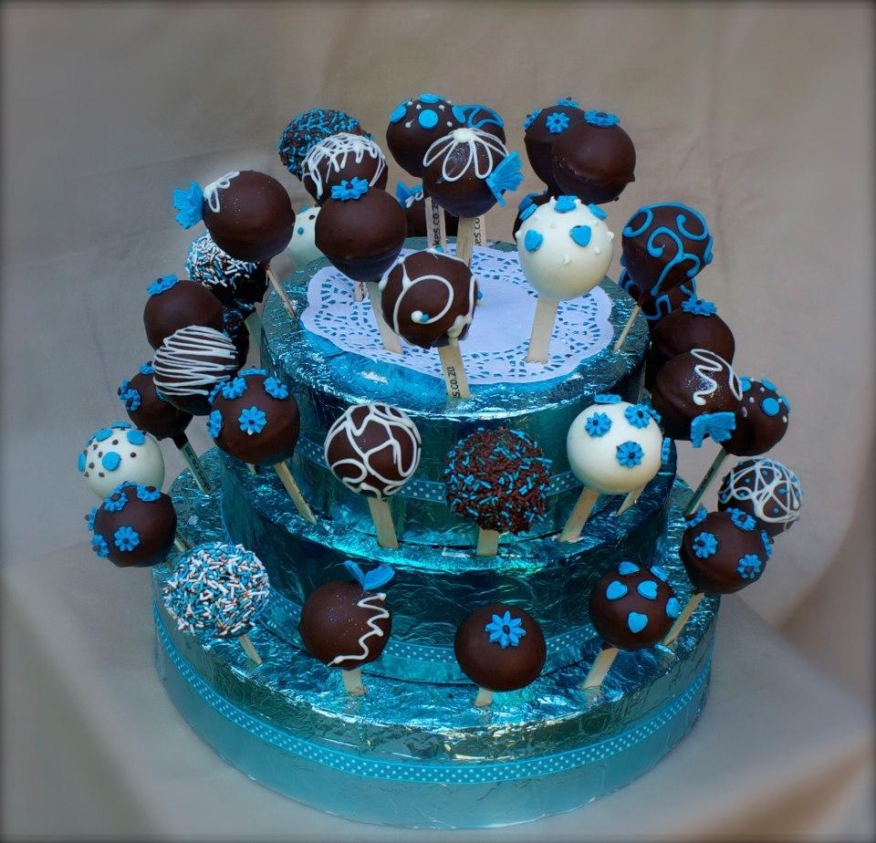 Pop Cake Granulado Rosa E Azul