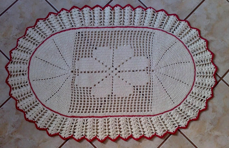 Tapete Oval De Cr ~ Tapete Oval de croch u00ea Eliane Arts Elo7