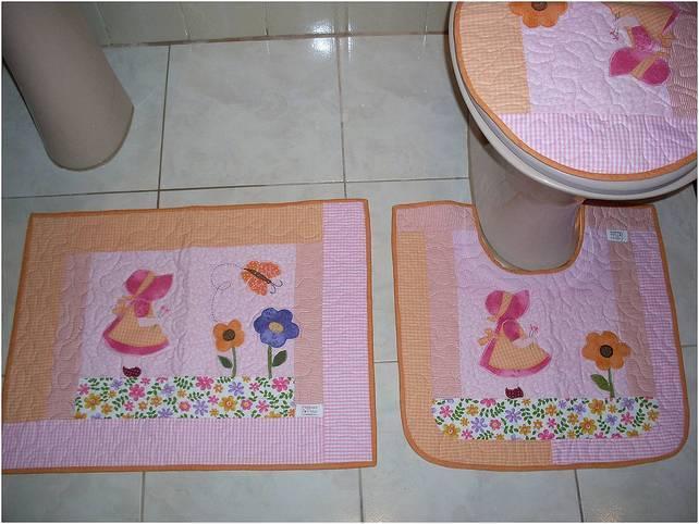 Kit Banheiro Em Tecido : Kit banheiro em patchwork fatimas patch elo