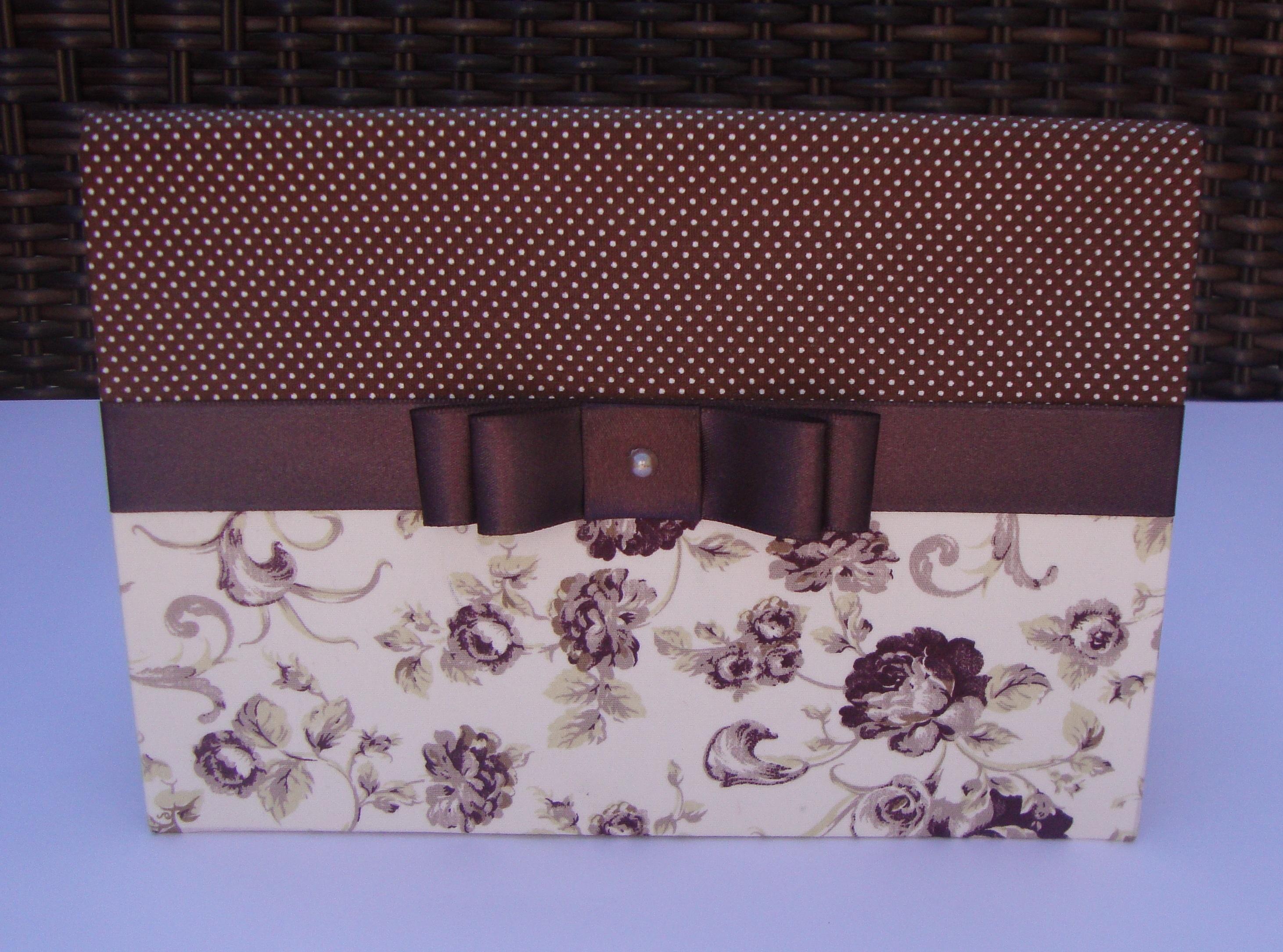 em tecido floral caixa em mdf revestida em tecido floral caixa  #343D97 2923x2171