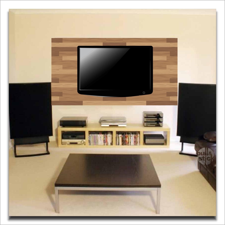 Painel Para Tv No Elo7 Pullstick Adesivos E Papelaria  -> Adesivo Decorativo Na Parede De Tv