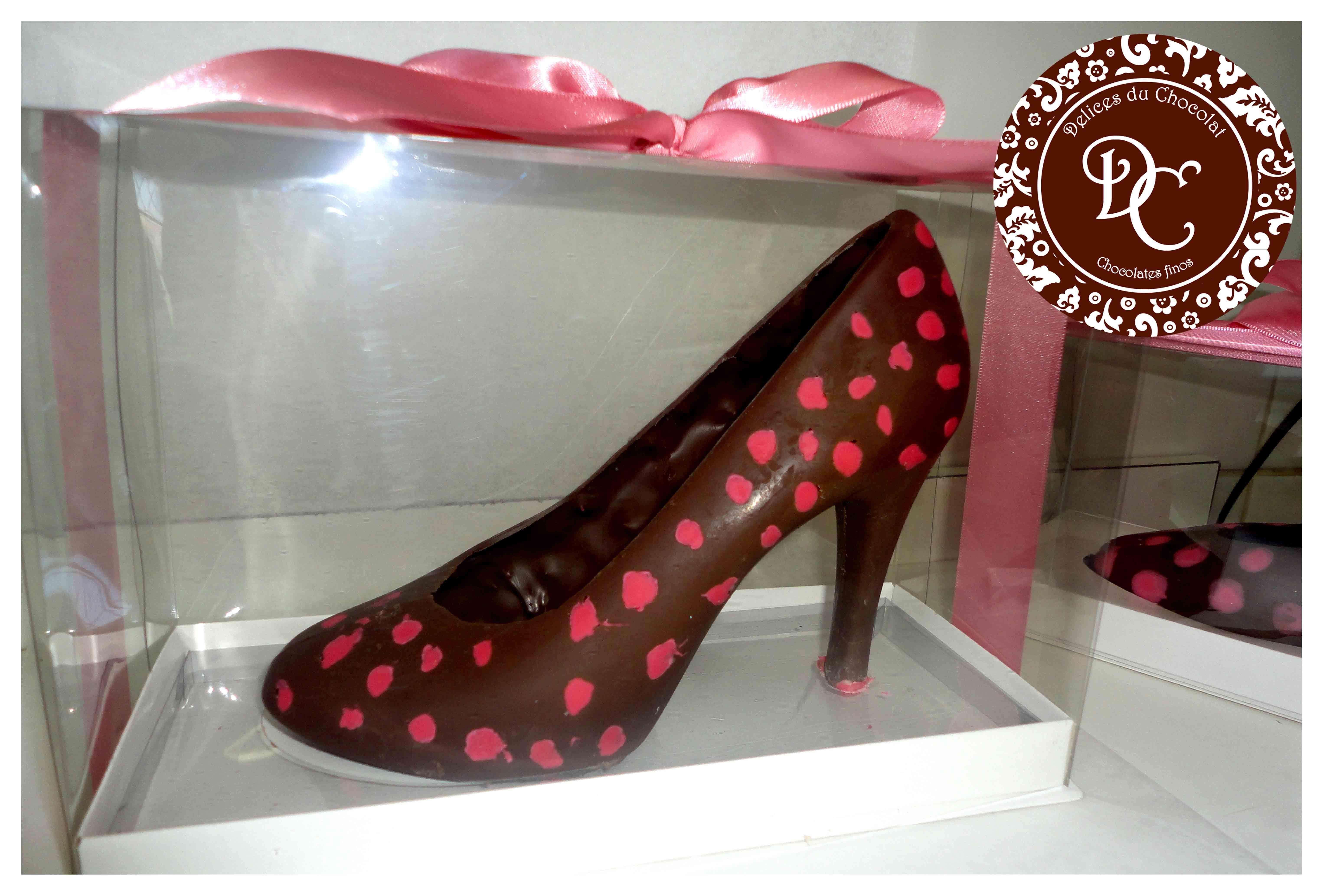 4cb53168b Sapato de chocolate peep toe - 01 lado no Elo7
