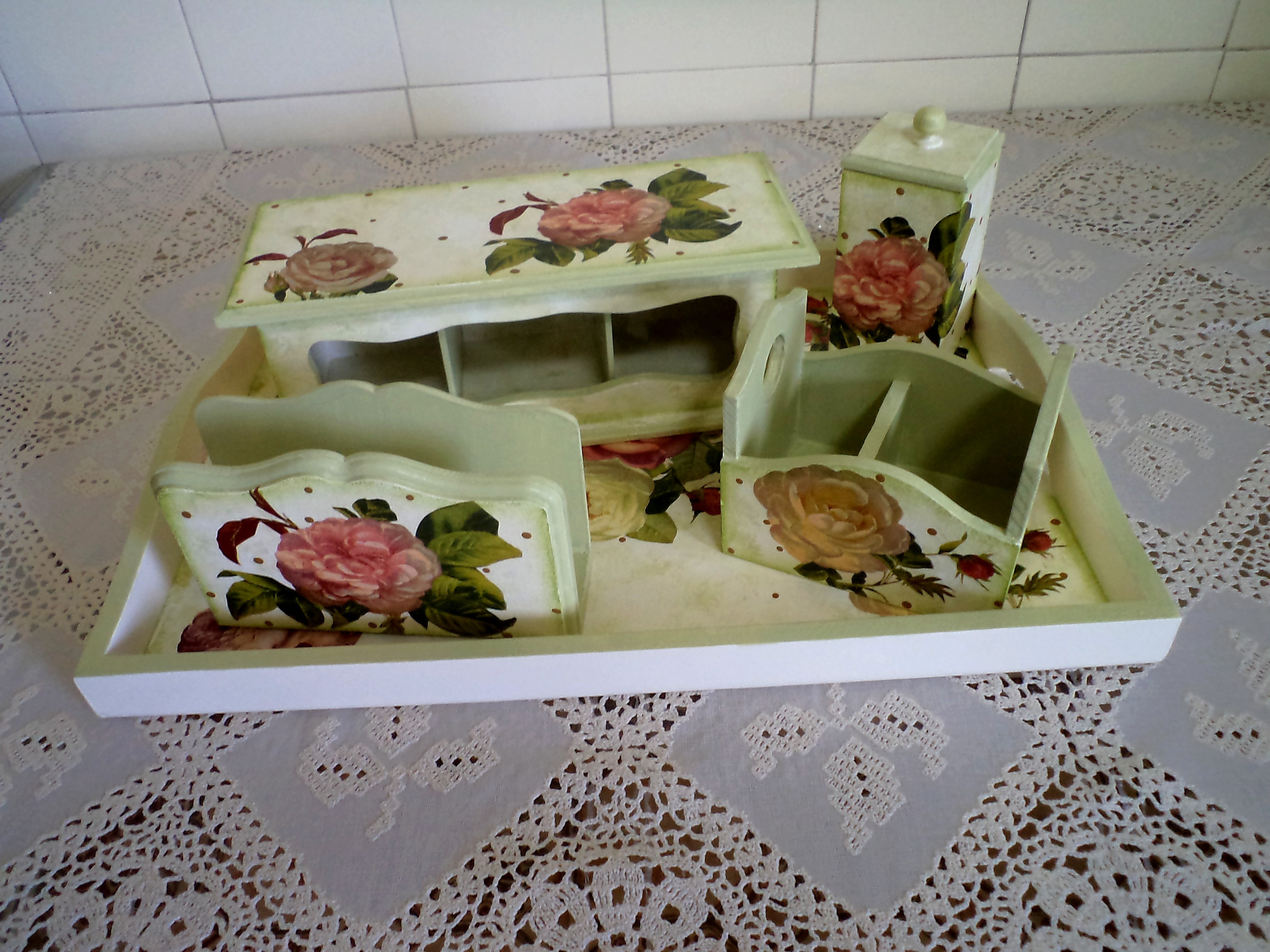 Artesanato Em Arame ~ Kit Cozinha mdf Hobby e Arte by Teresa Elo7
