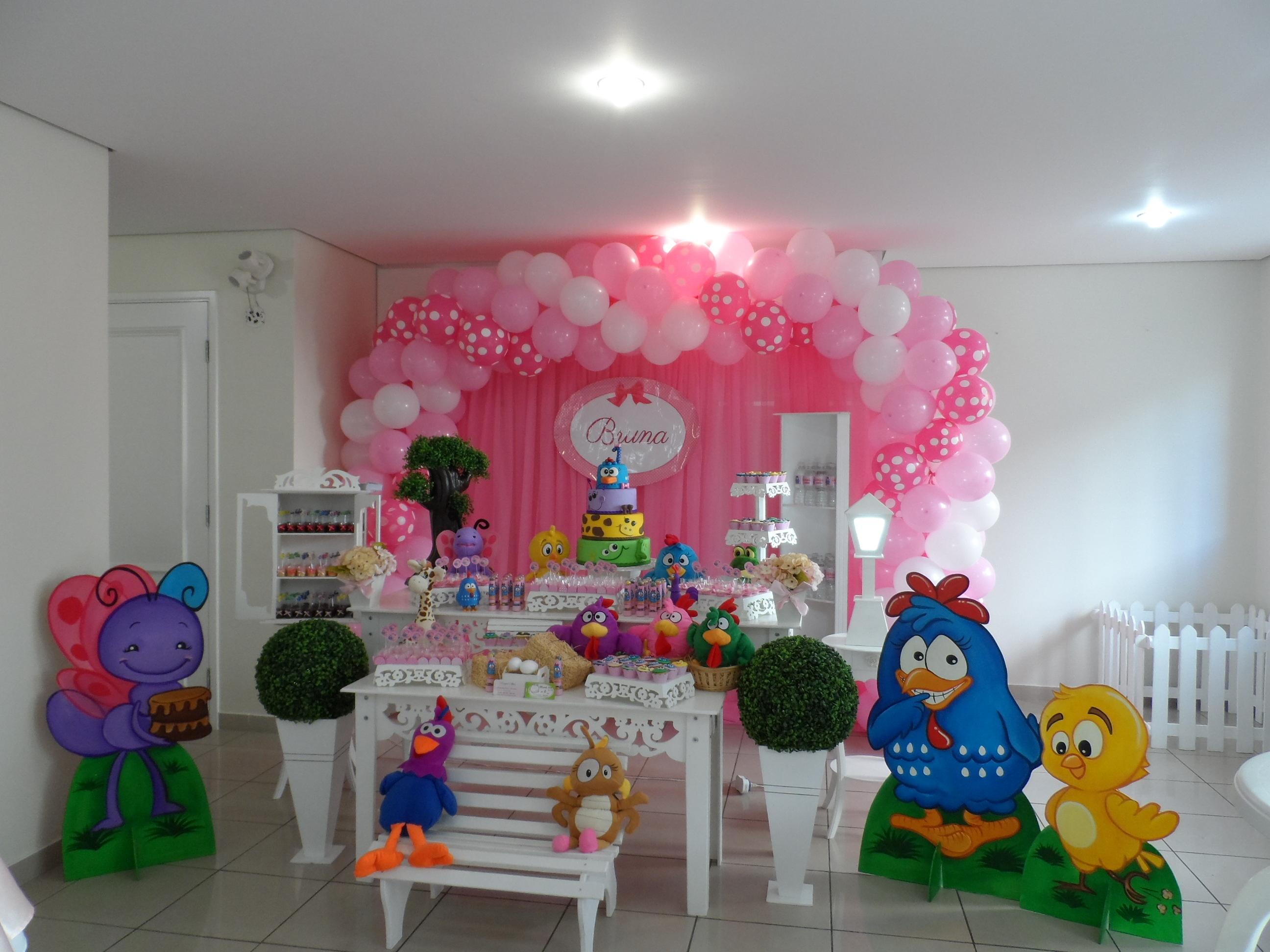 Decoraç u00e3o Galinha Pintadinha Oficina Festas Eventos Elo7 -> Decoração De Festa Infantil Da Galinha Pintadinha Rosa
