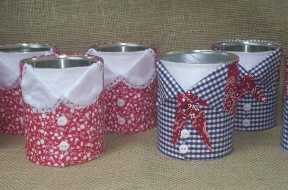 Resultado de imagem para latas decoradas para festa