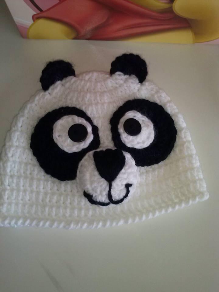 touca de crochê new born panda no Elo7  9a37309305e