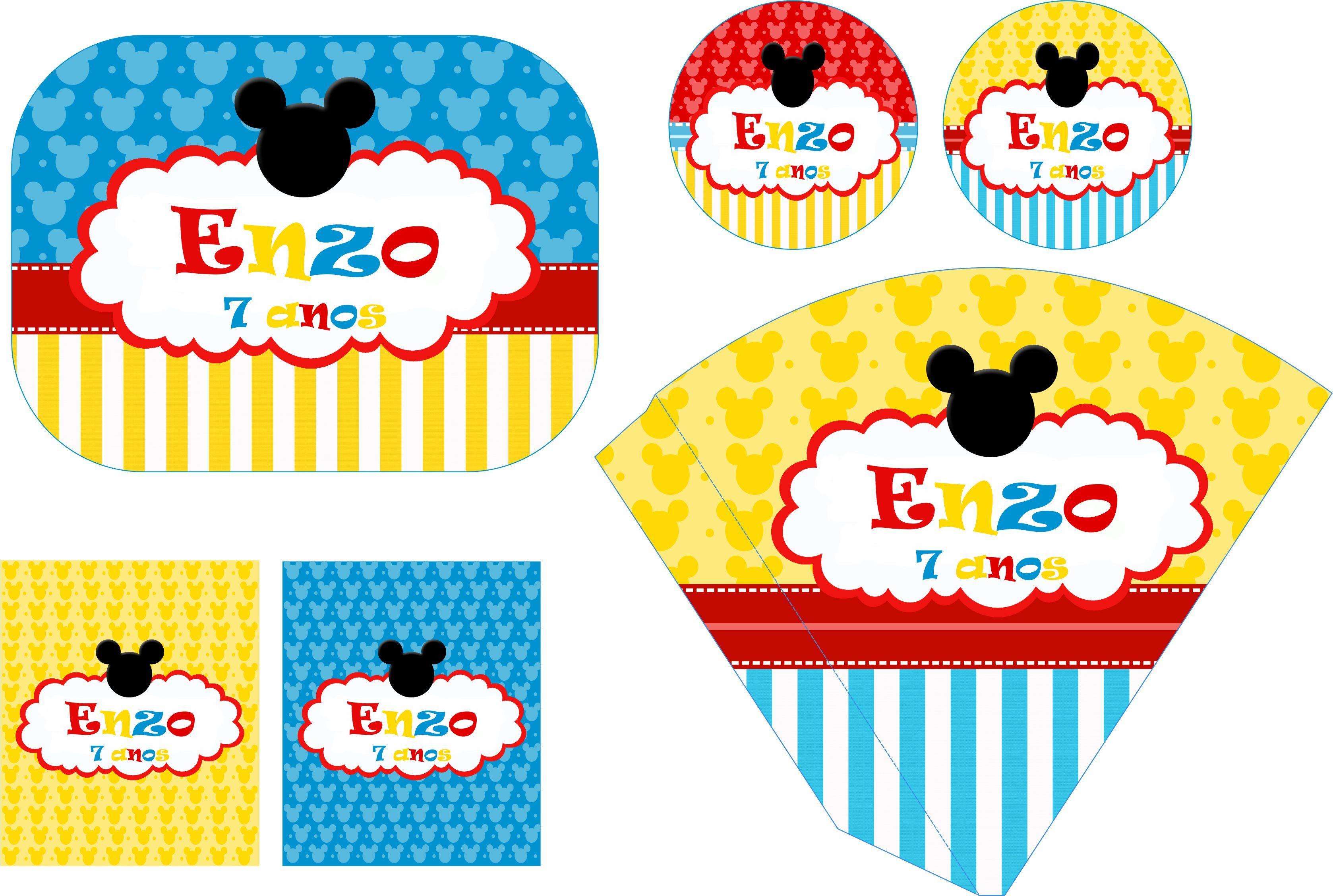 Kit Festa Personalizada Mickey Ii No Elo7 Festa Personalizada Da