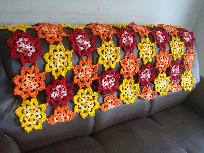 Manta para sof artesanais cel elo7 for Mantas para sofas