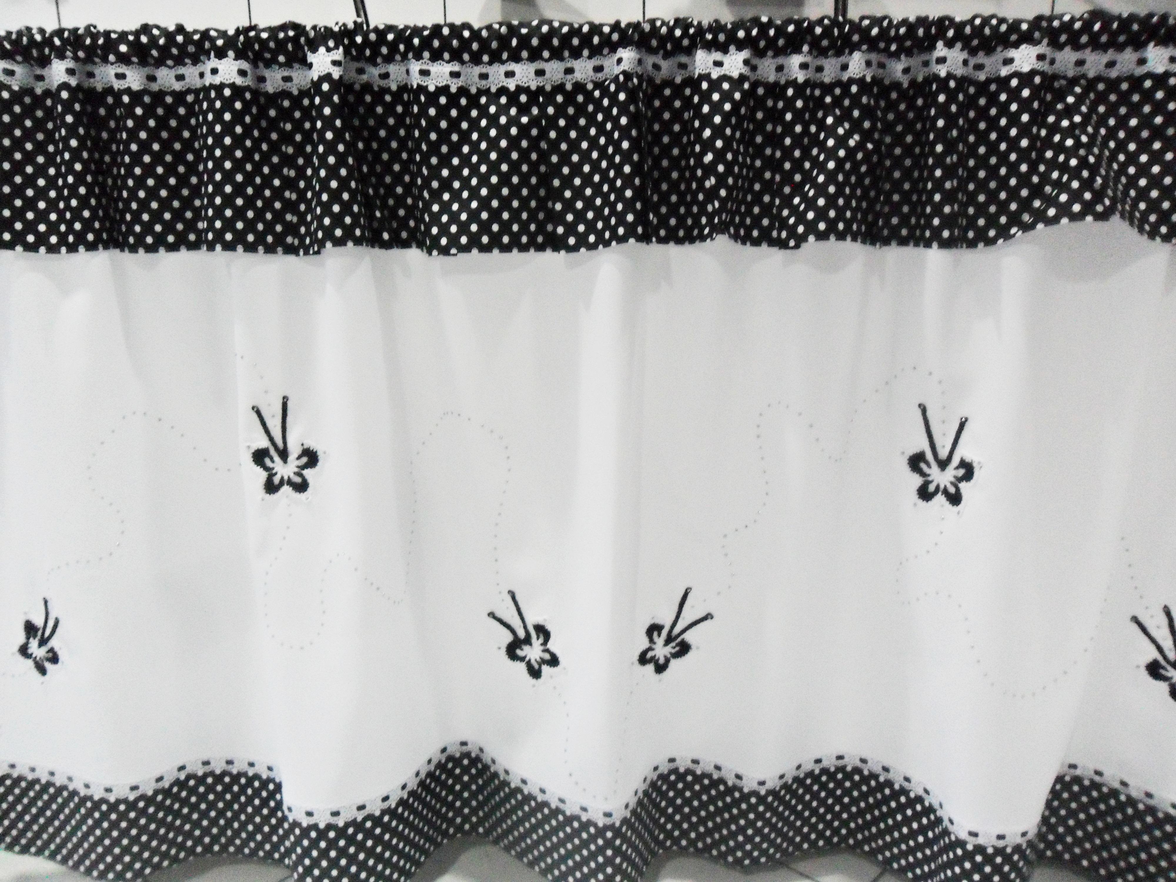 Cortina Preto E Branco Ou Escolha Cores No Elo7 Croch Carioca