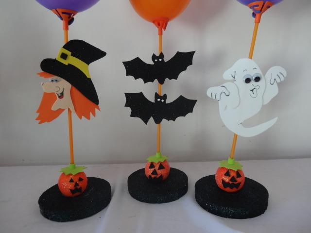 Enfeite de Halloween  Buum Balloon Elo7 -> Decoração De Halloween Com Materiais Reciclados
