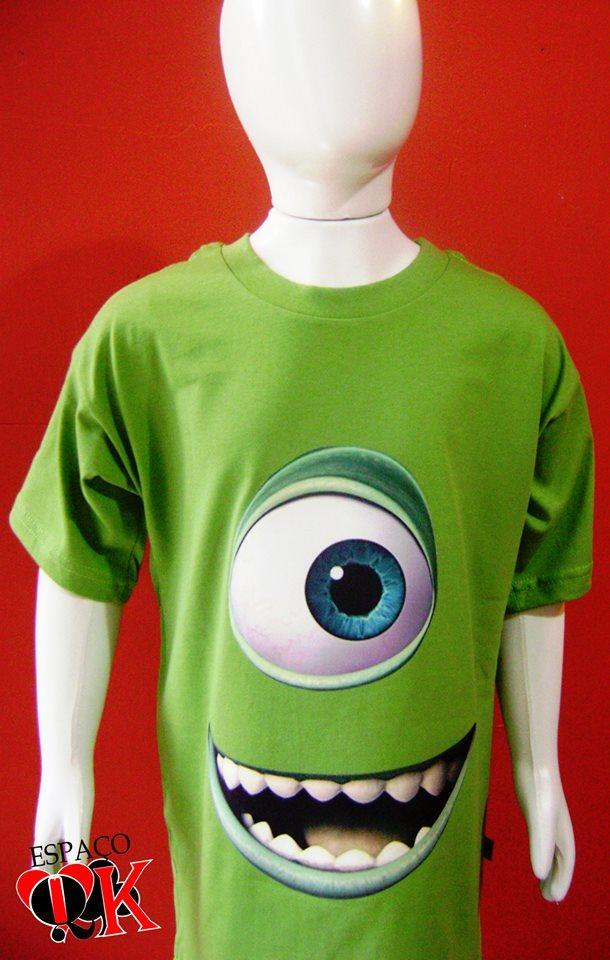 9aab644fa9 Camiseta Infantil Mike Monstros S a