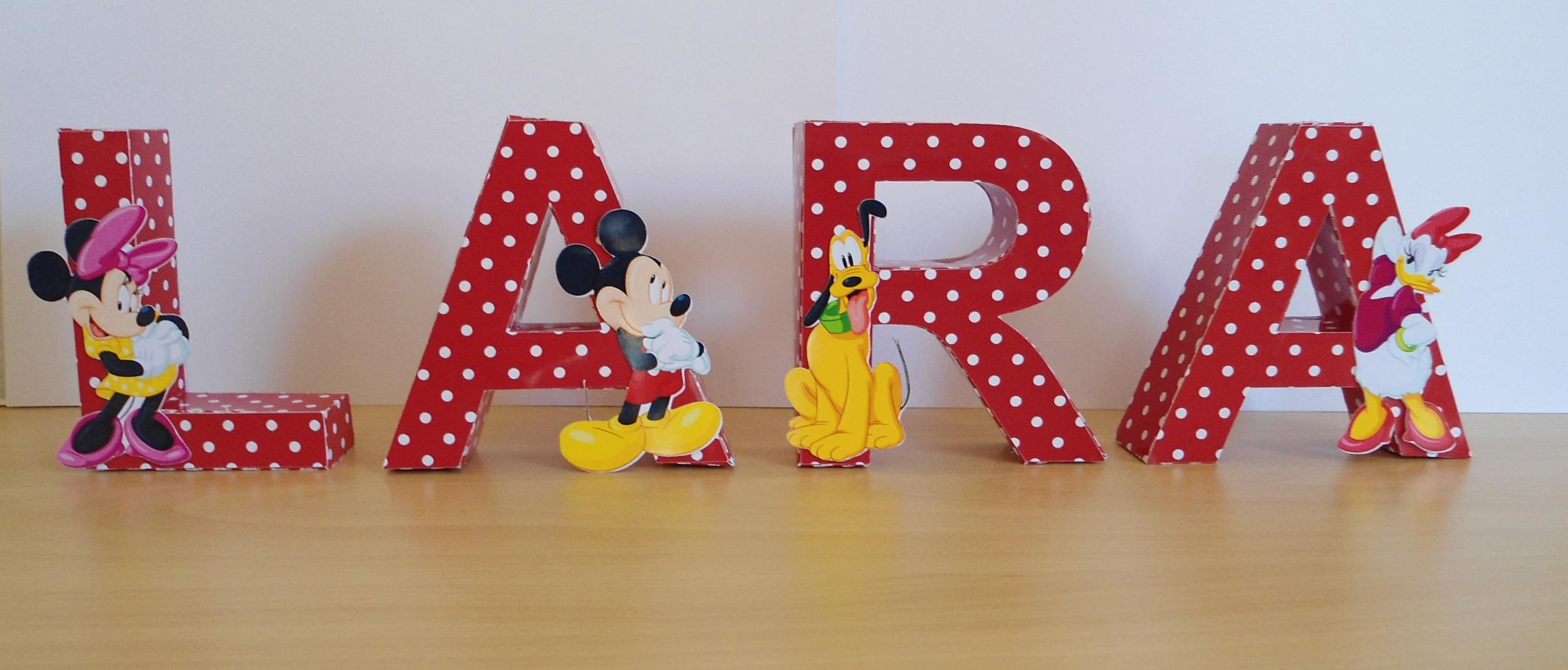 letras decorativas mickey e sua turma paperpop arte em papel elo7 - Letras Decorativas