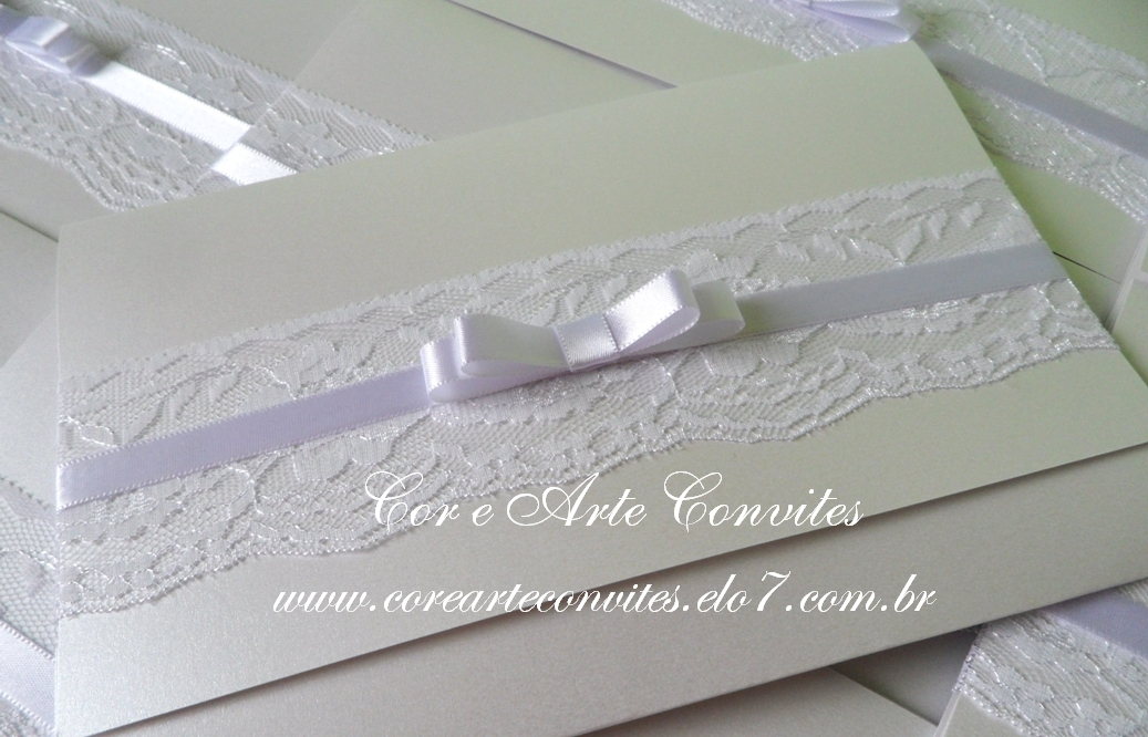 Convite De Casamento Renda Isabella No Elo7 Cor E Arte Convites