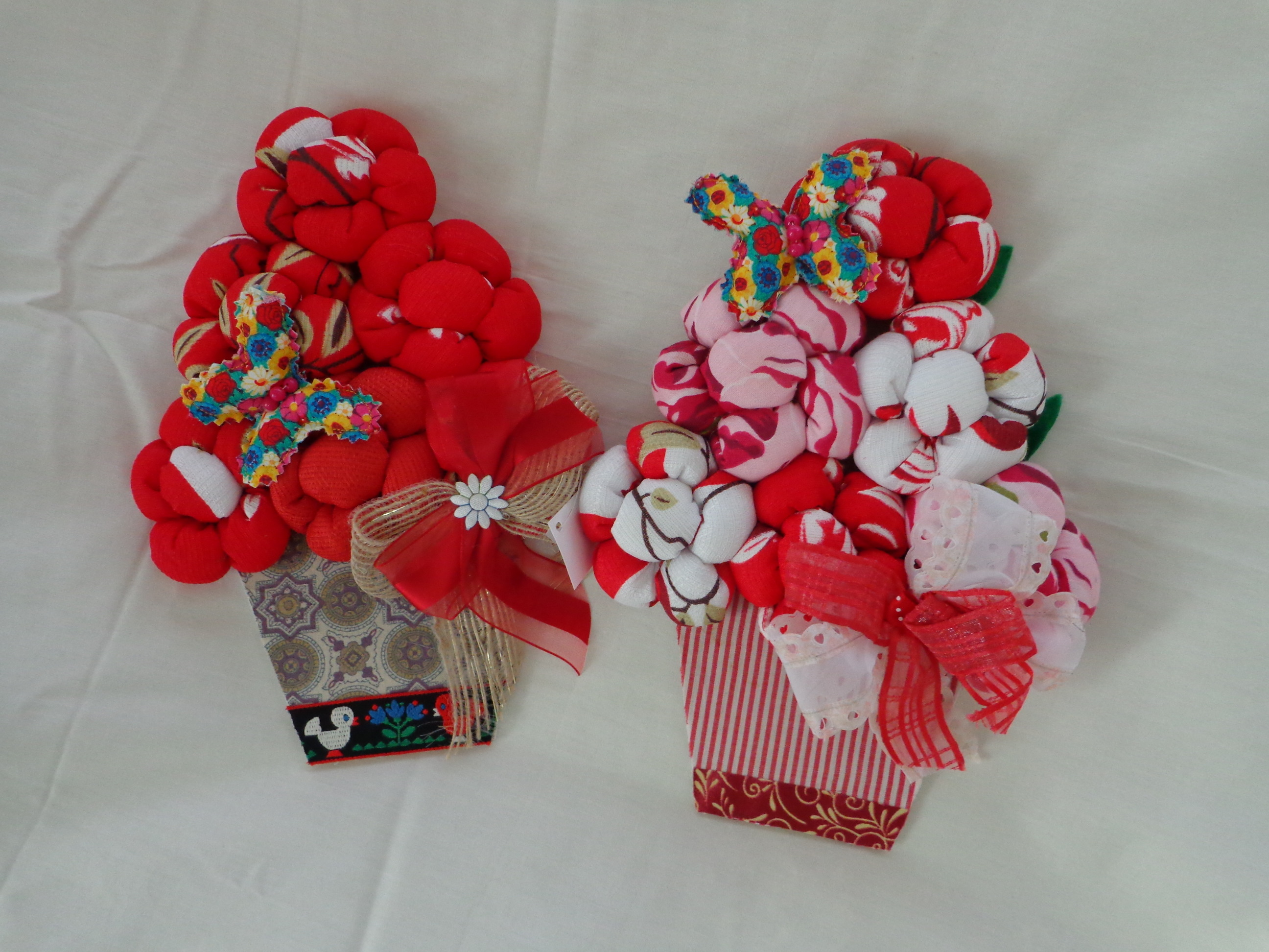 Enfeite De Vaso ~ Vaso de flores Enfeite de Natal Arte de Amor