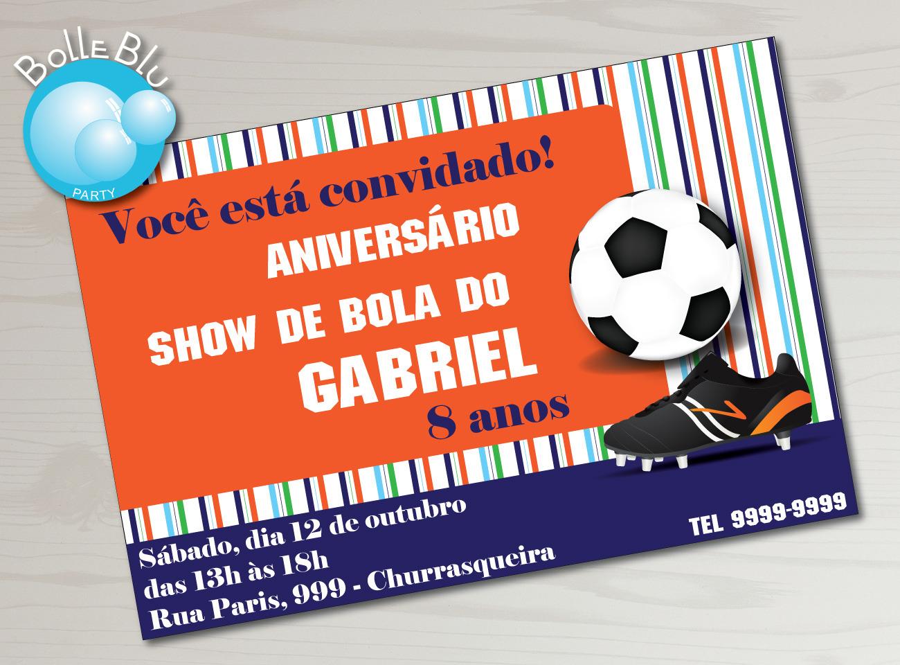 Convite com Bola  0334f78d127d0