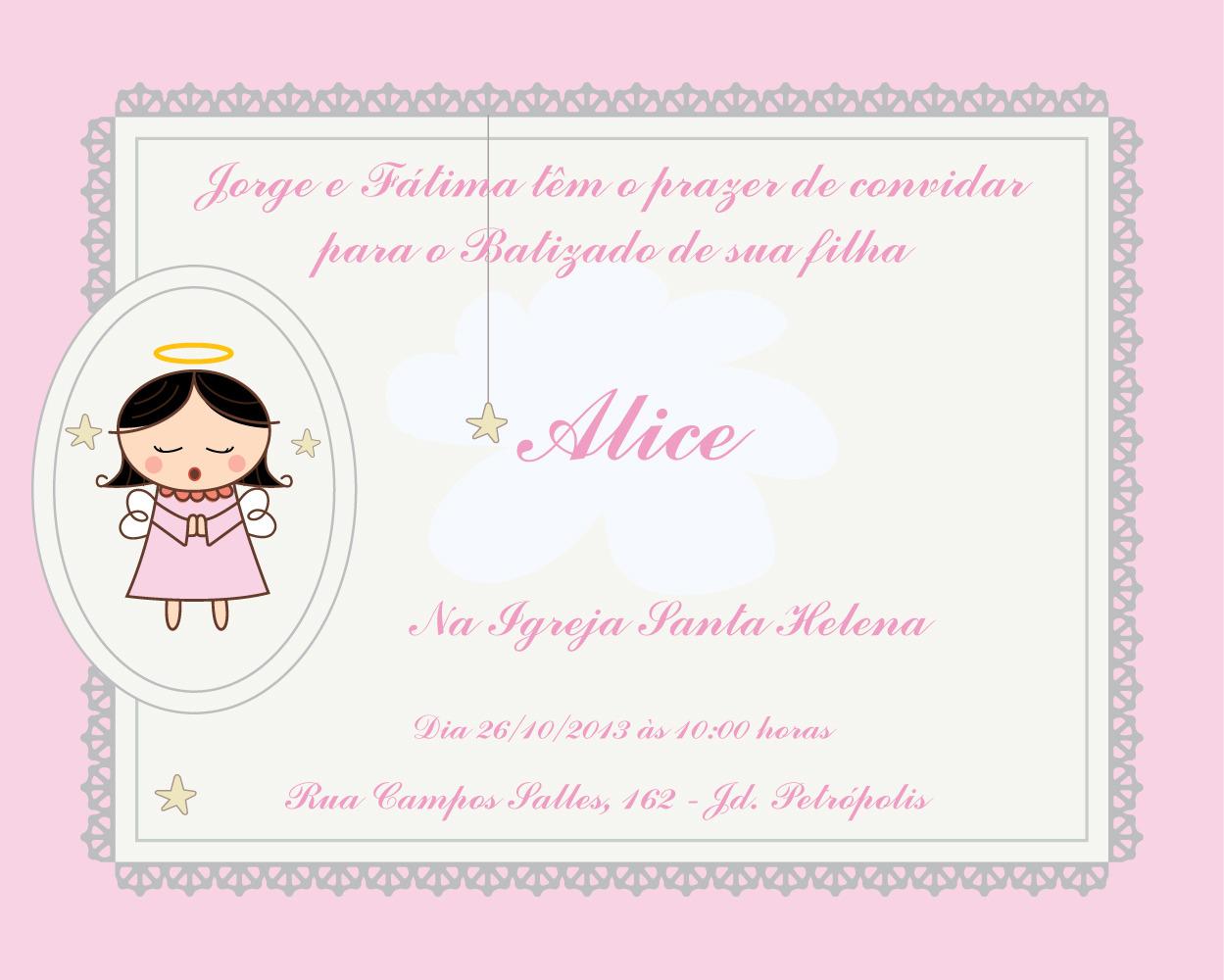 Convites De Batizado Para Imprimir Imagui
