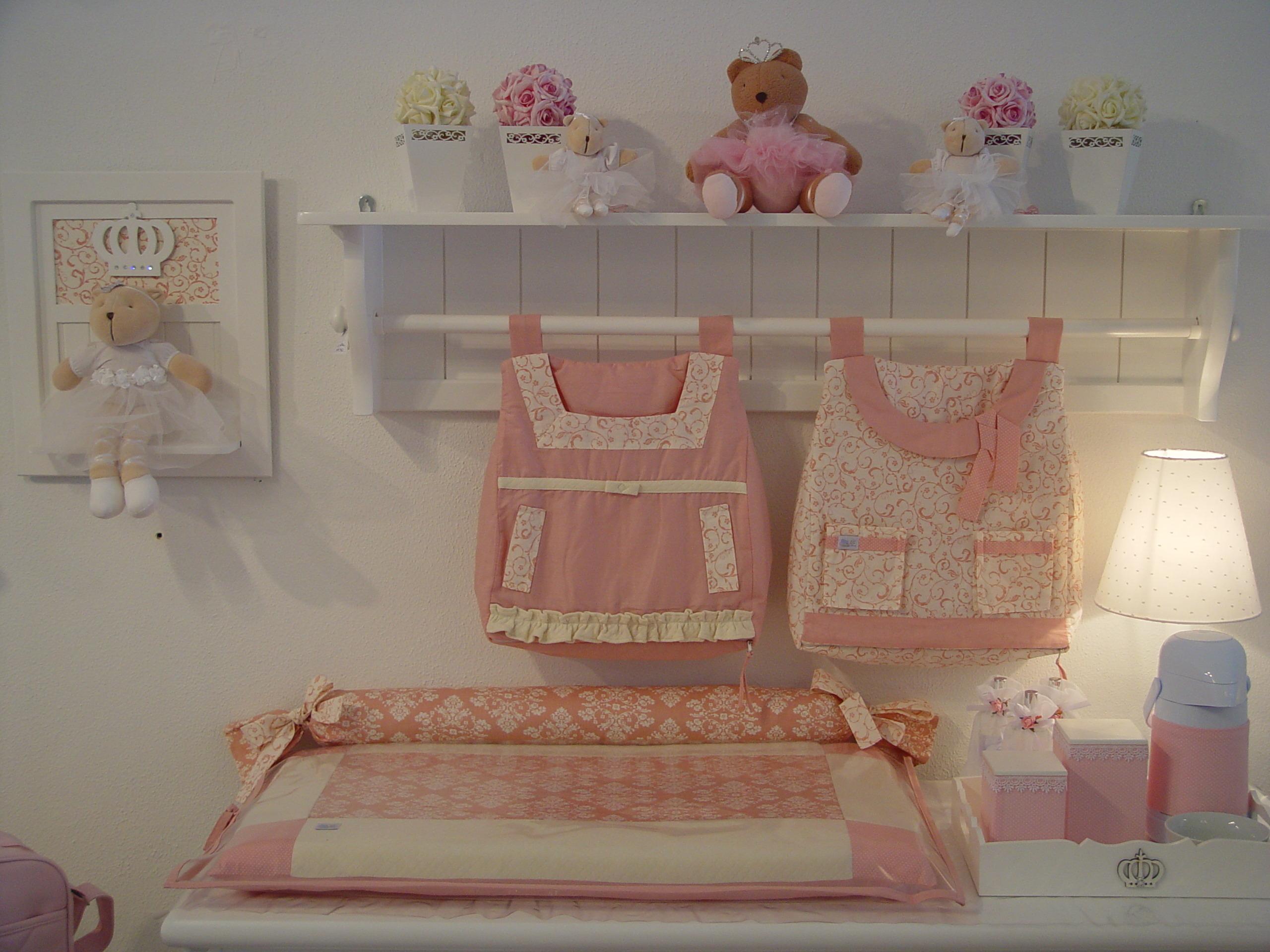 Qt 0410 Cole O Arabesco Rosa Antigo Pipe E Guca Elo7 ~ Decoração De Quarto De Bebe Em Apartamento Pequeno