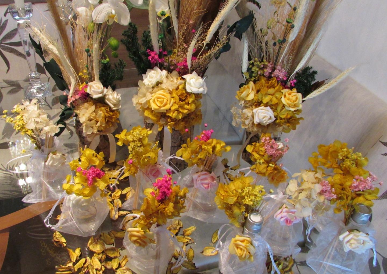 kit arranjo flores secas u rosamorena artes florais elo