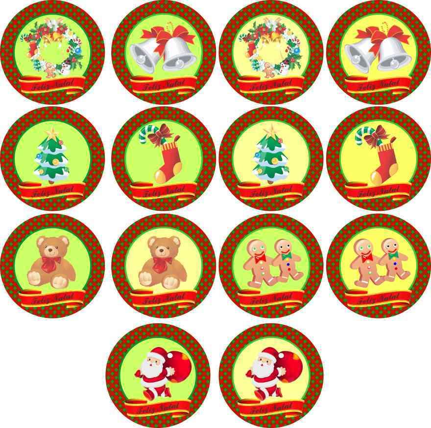 Aparador Vitrina Comedor ~ Natal 15 Adesivos Marga Brindes Elo7