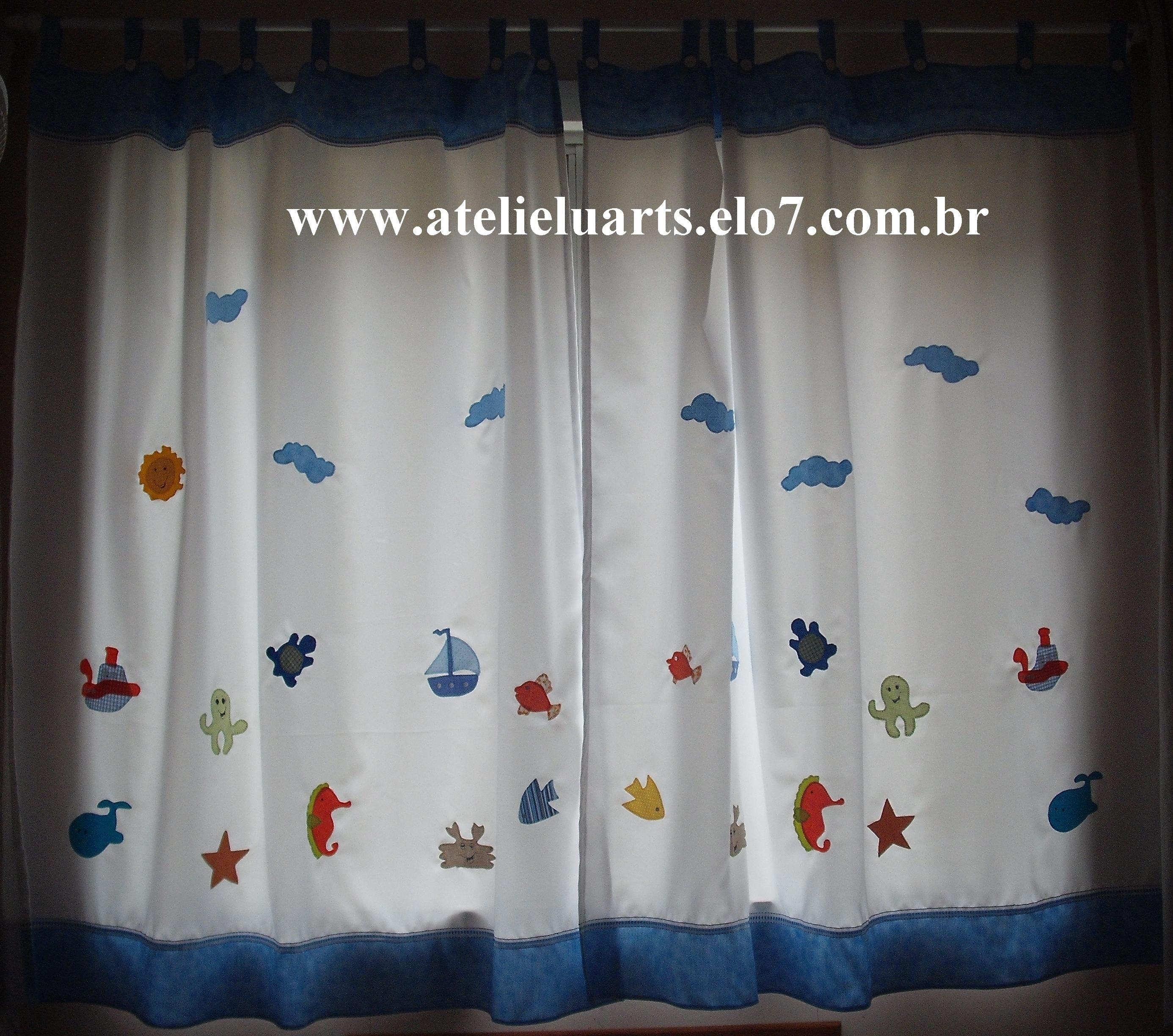 Cortina para quarto infantil ateli luarts elo7 - Apliques para cortinas ...