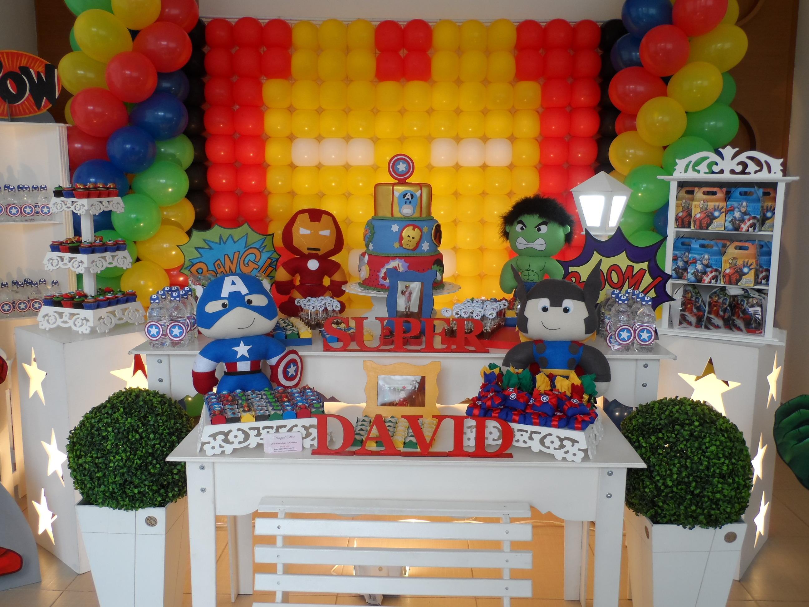 Decoraç u00e3o Vingadores Provençal Oficina Festas Eventos Elo7 -> Decoração De Festa Os Vingadores