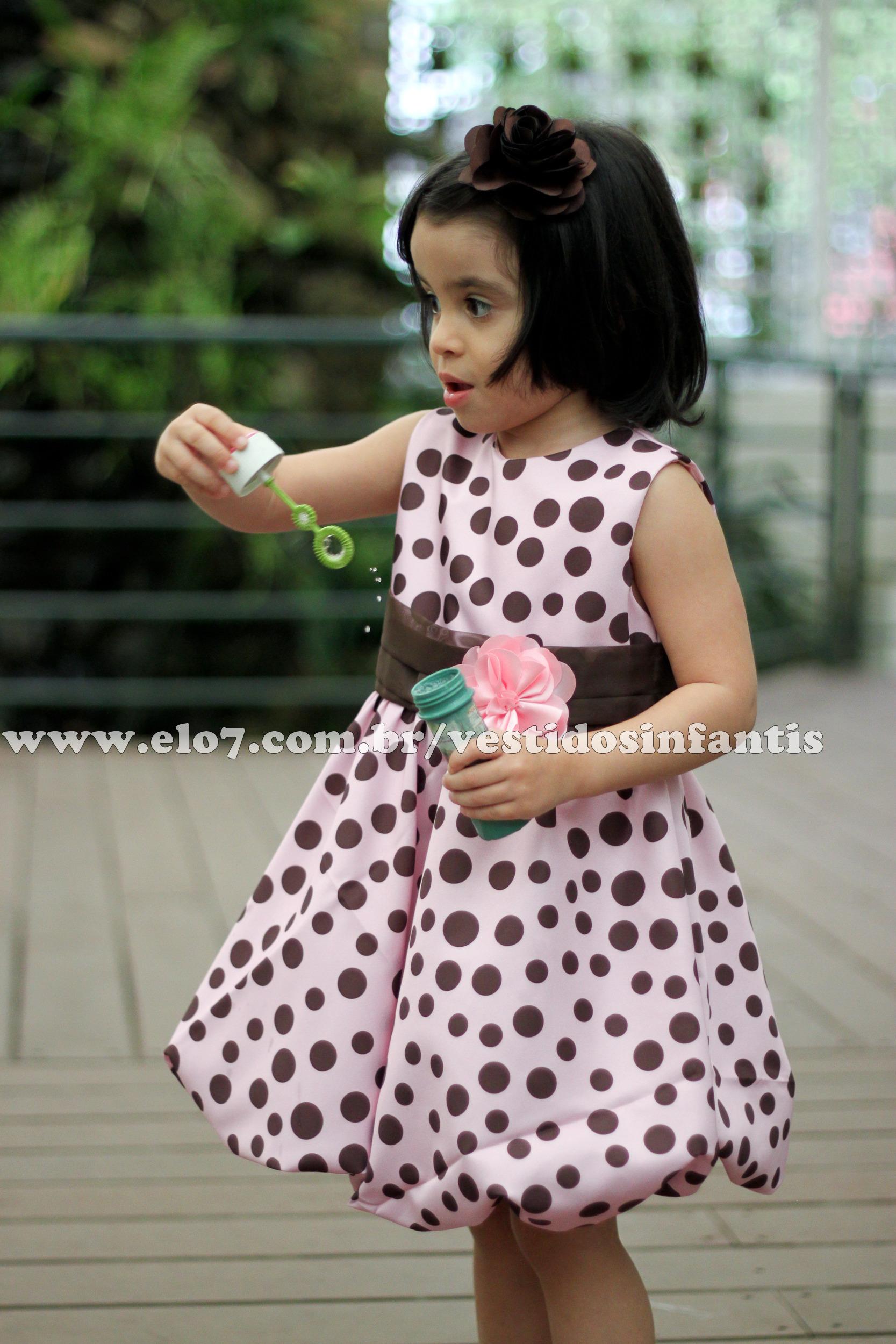 5005f99ae8 Vestido Tema Marrom e Rosa