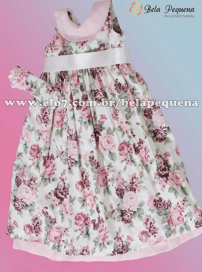 3a70f6c7d65 Vestido Infantil Floral no Elo7 | Bela Pequena (38DF49)