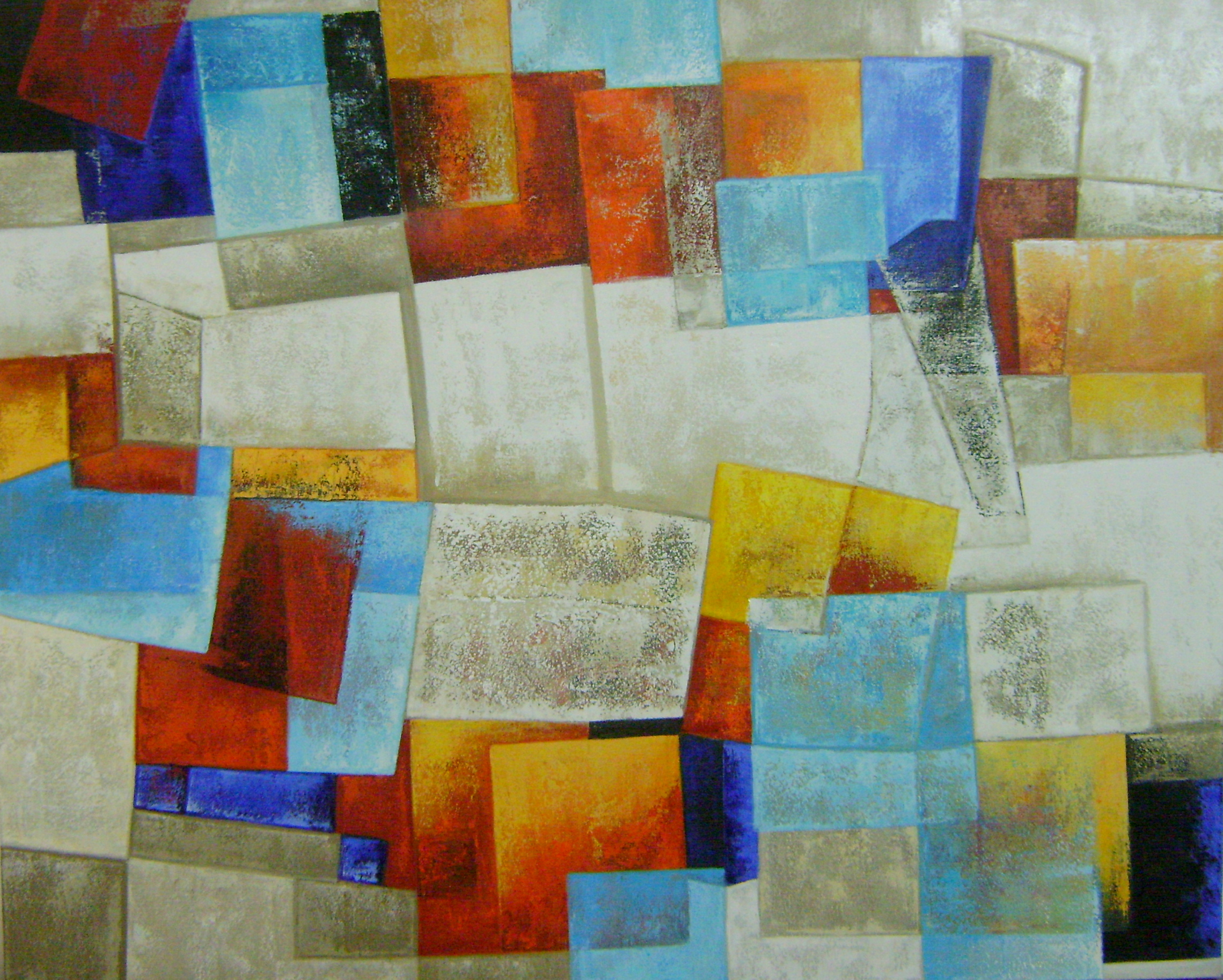 Pinturas de telas abstratas