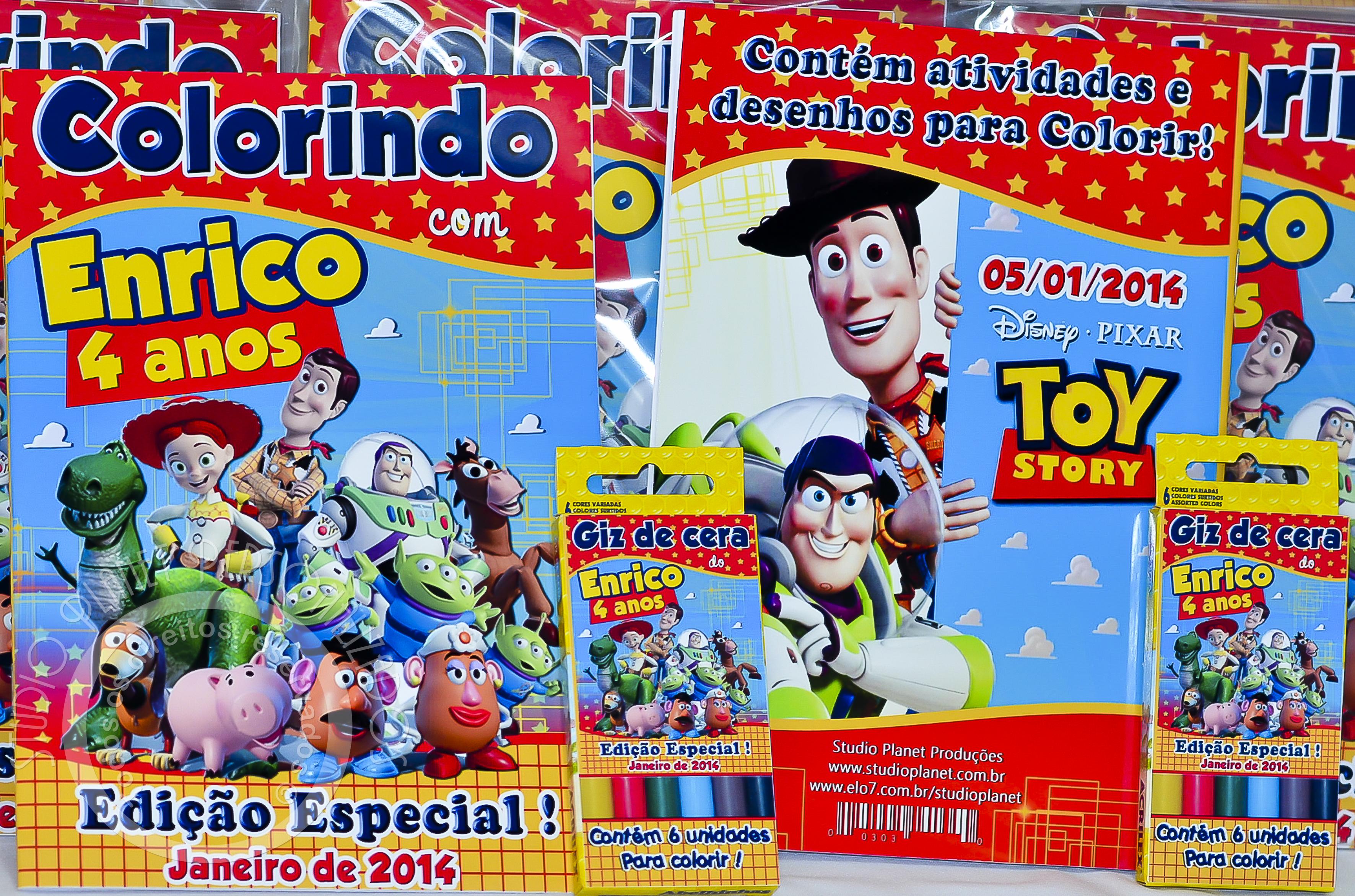 Kit Para Colorir Toy Story Elo7