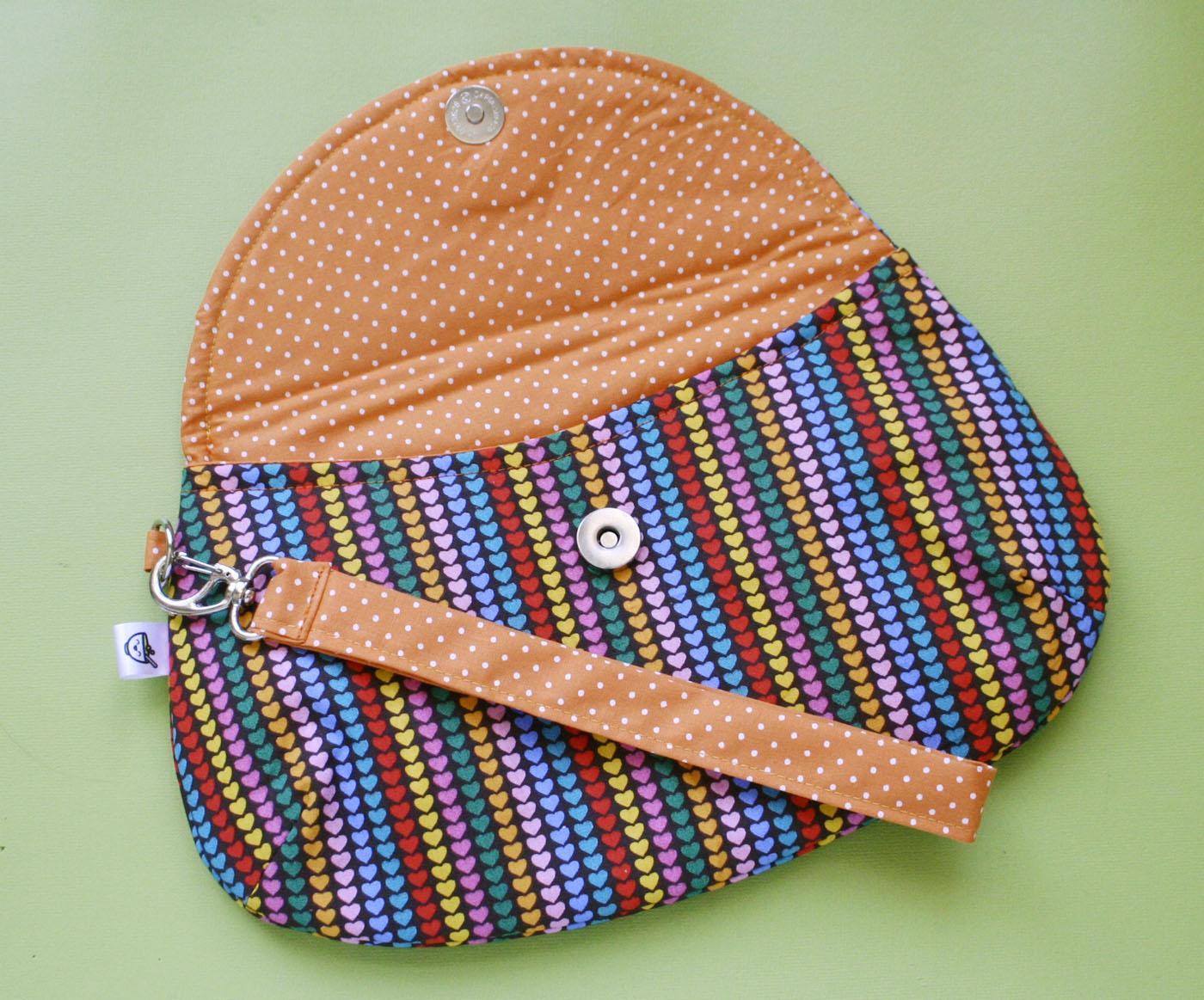 Bolsa De Mão Artesanal Passo A Passo : Clutch bag bolsa de m?o com alcinha meia tigela elo