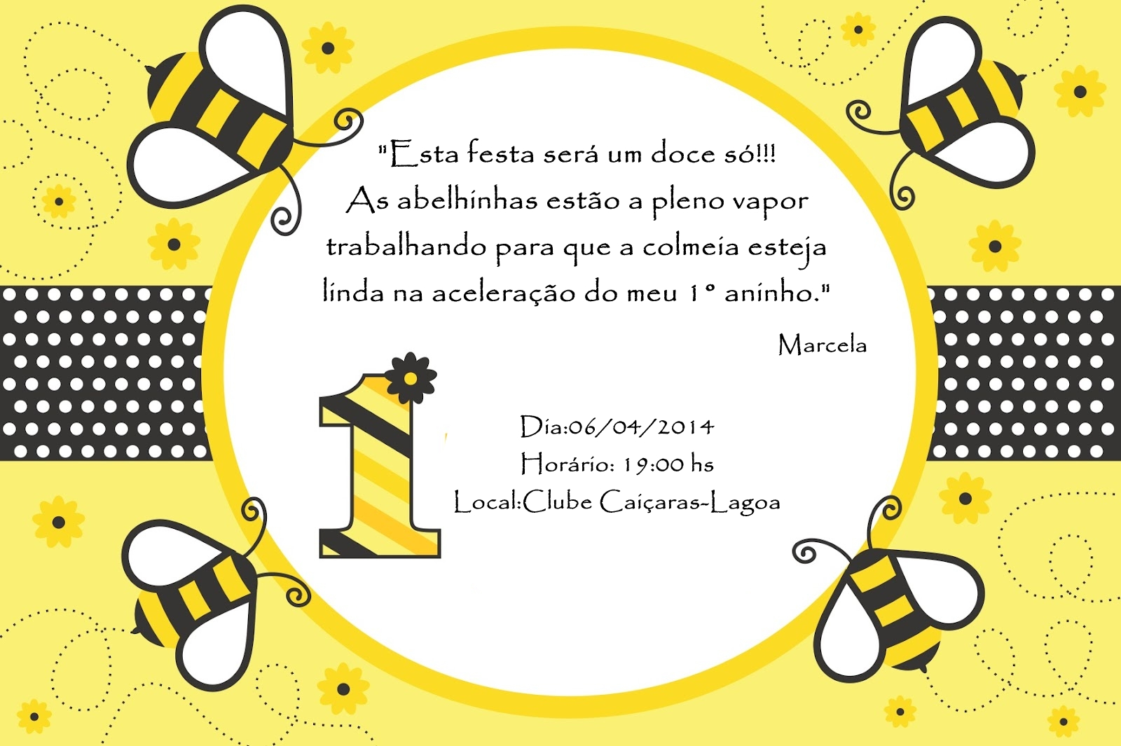 Convite Abelhinha No Elo7 Lucianartspersonalizados 39e65a