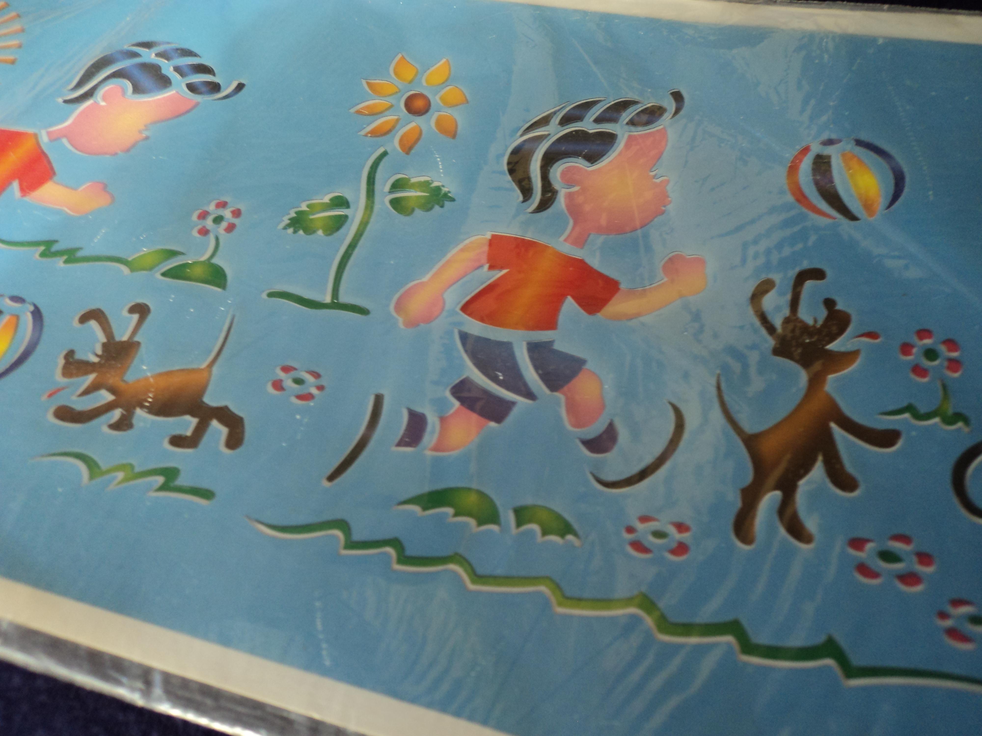 Stencil para pinturas decorativas art cor cria es elo7 - Pinturas decorativas paredes ...